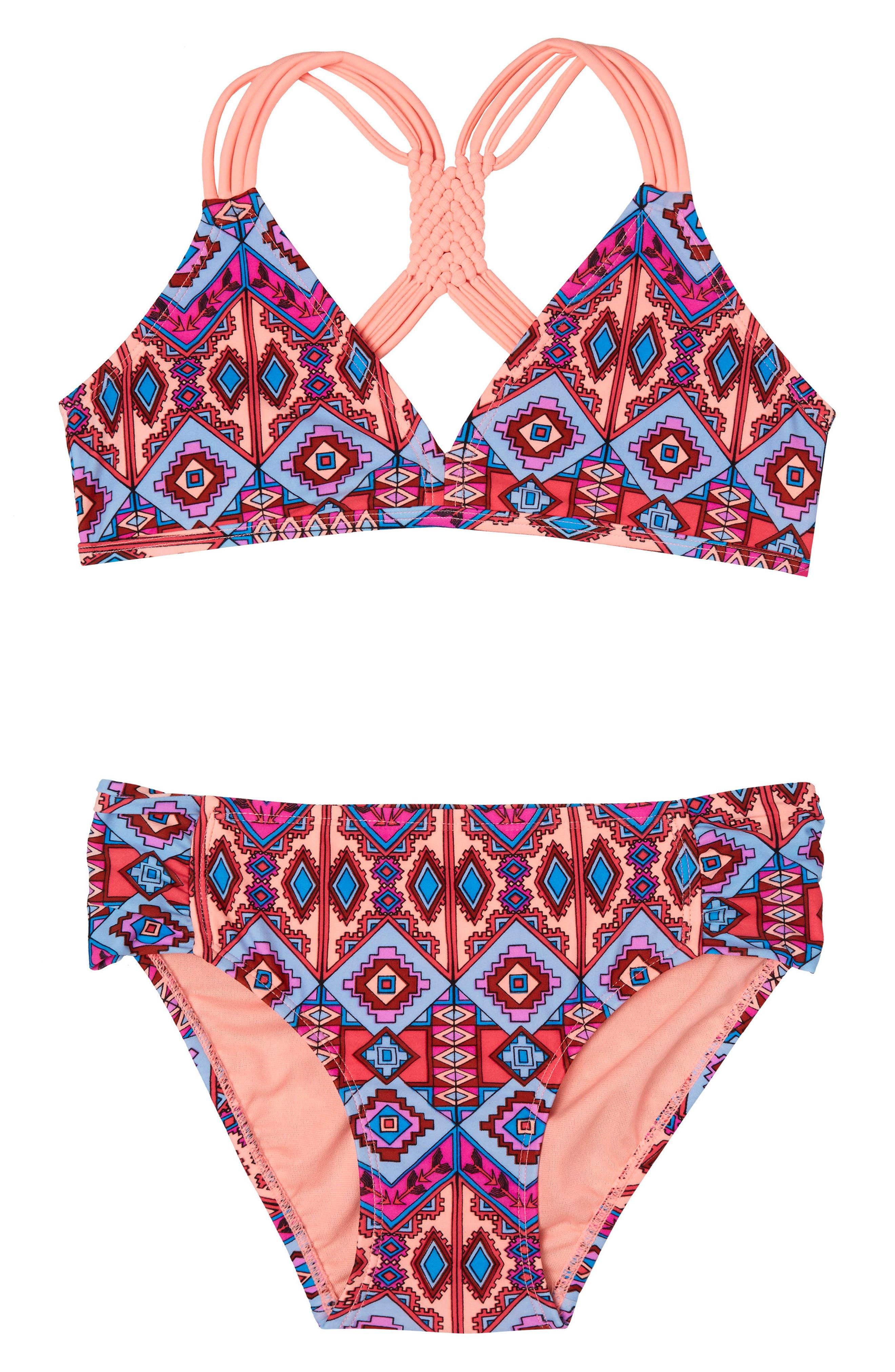 Main Image - Gossip Girl Brave Spirit Two-Piece Swimsuit (Big Girls)