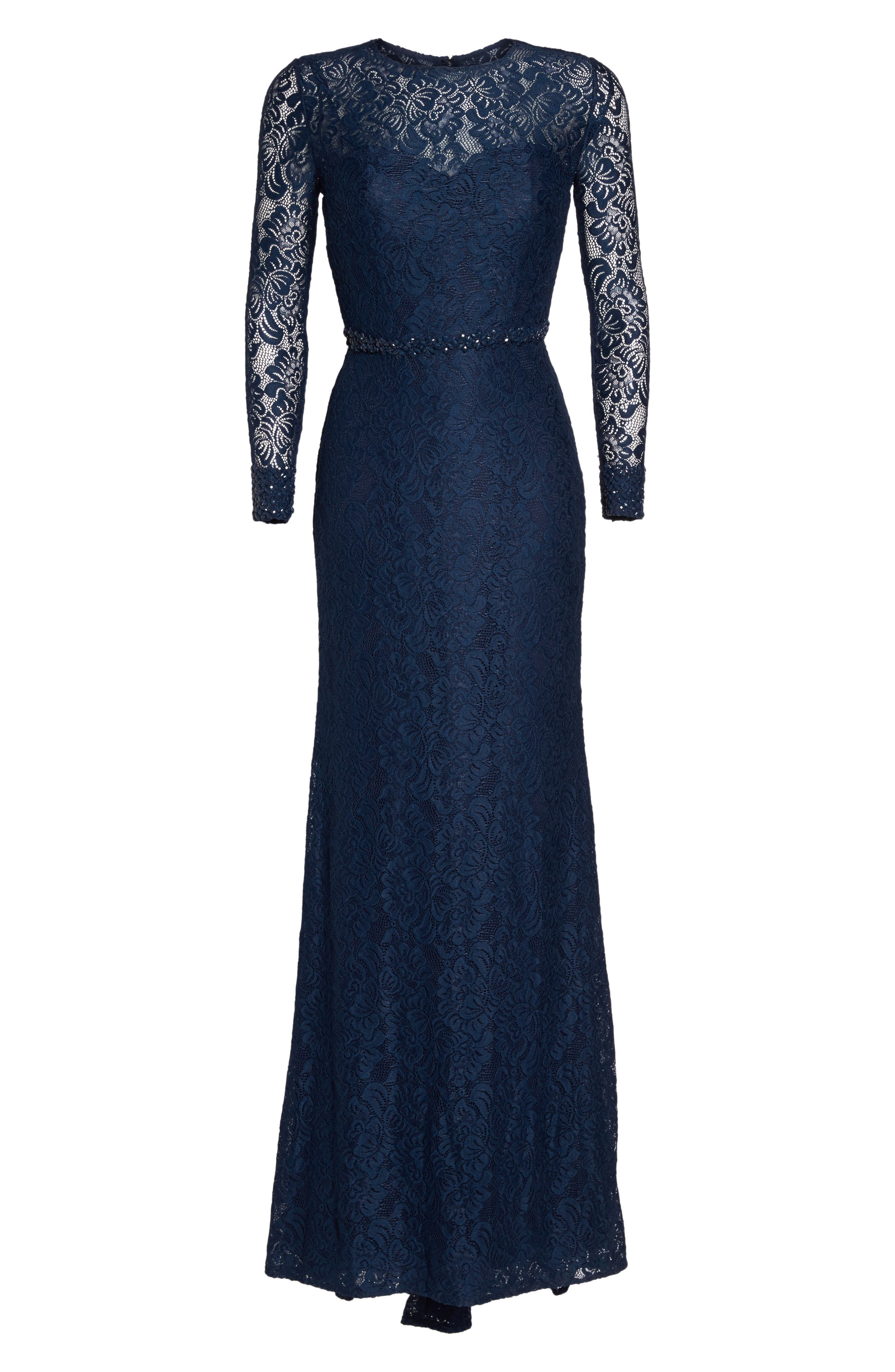 Alternate Image 6  - La Femme Embellished Lace Gown