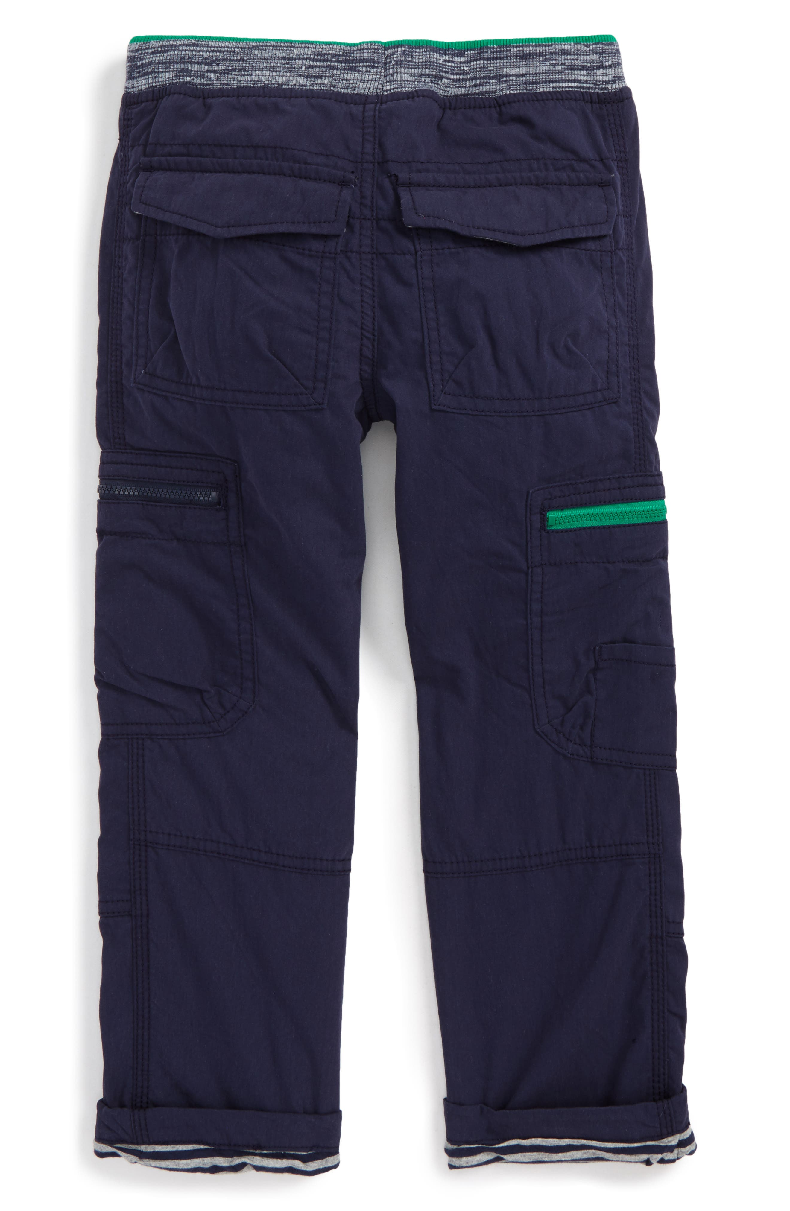 Lined Cargo Pants,                             Alternate thumbnail 2, color,                             Navy
