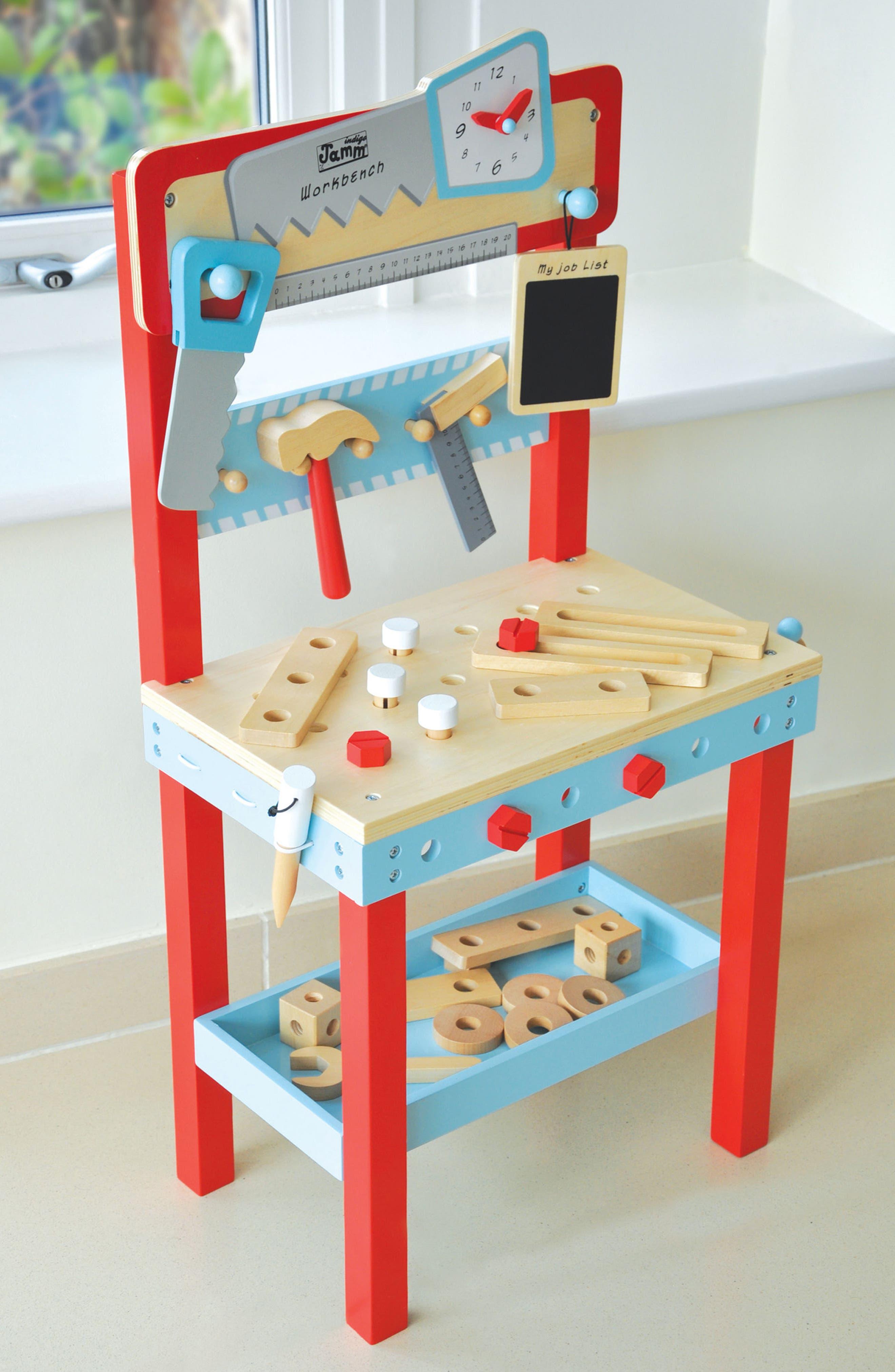 Little Carpenters Workbench,                             Alternate thumbnail 3, color,                             Blue