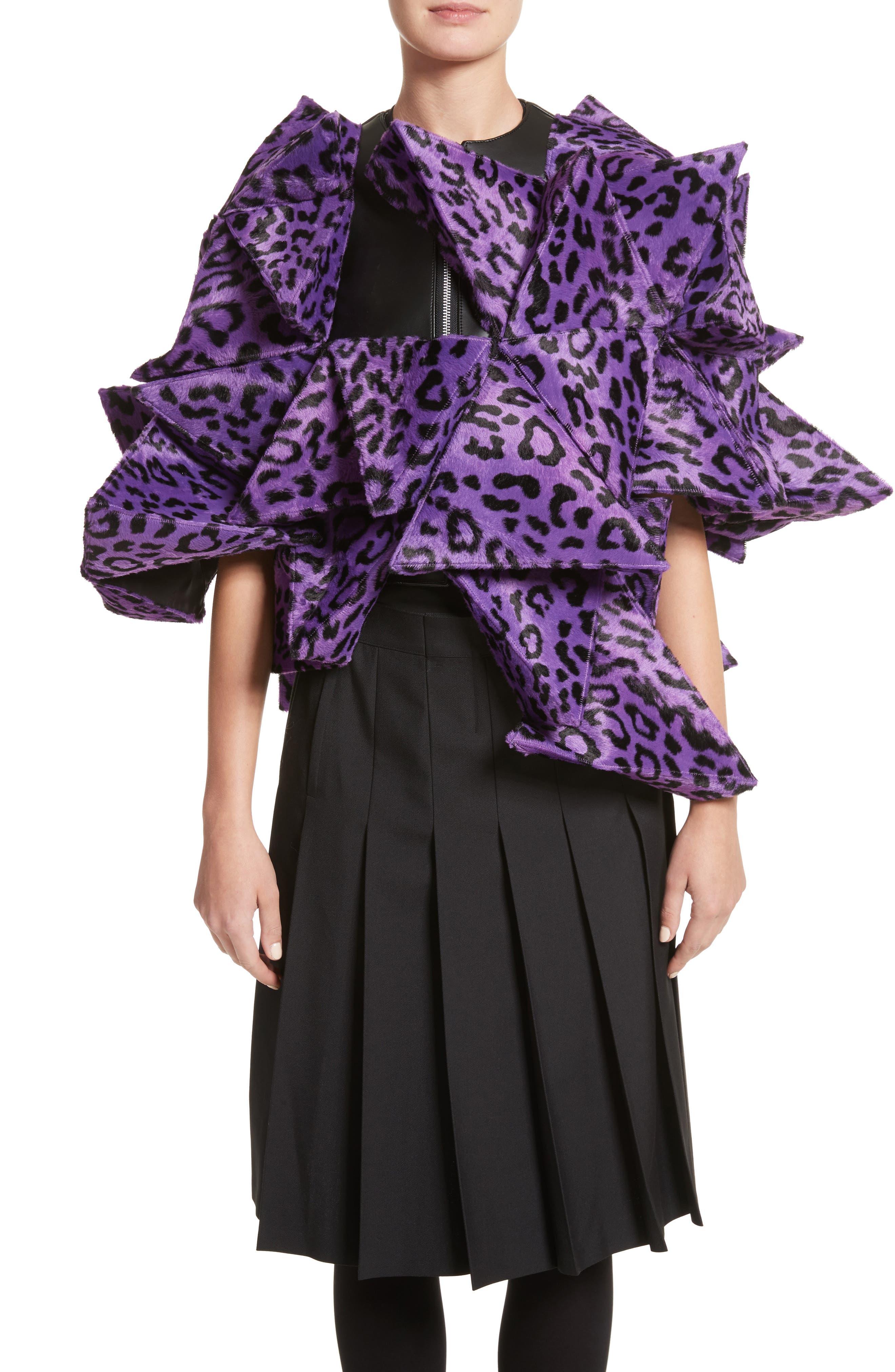 Junya Watanabe Origami Faux Cheetah Jacket