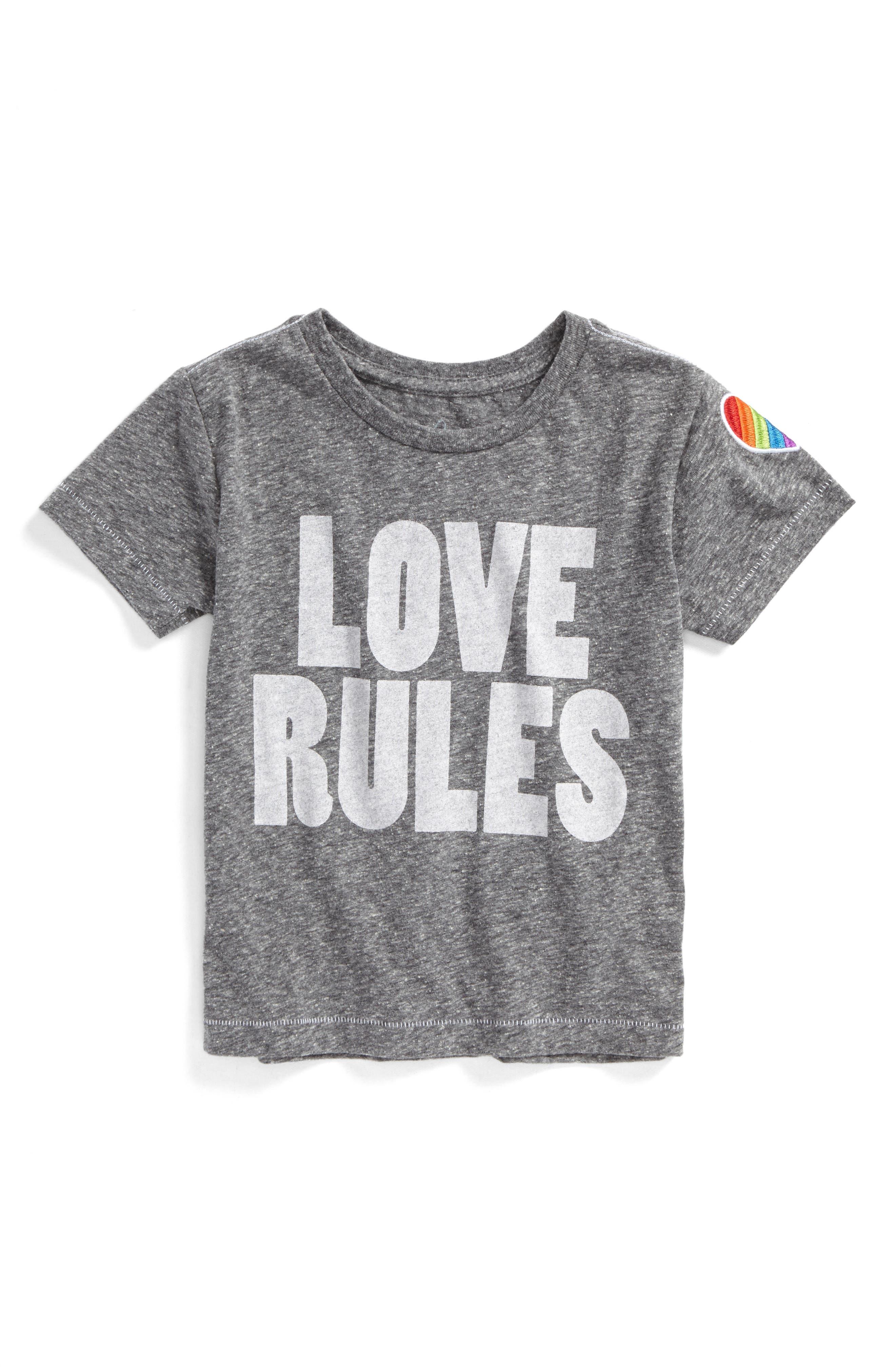 Peek Love Rules Graphic Tee (Toddler Girls, Little Girls & Big Girls)