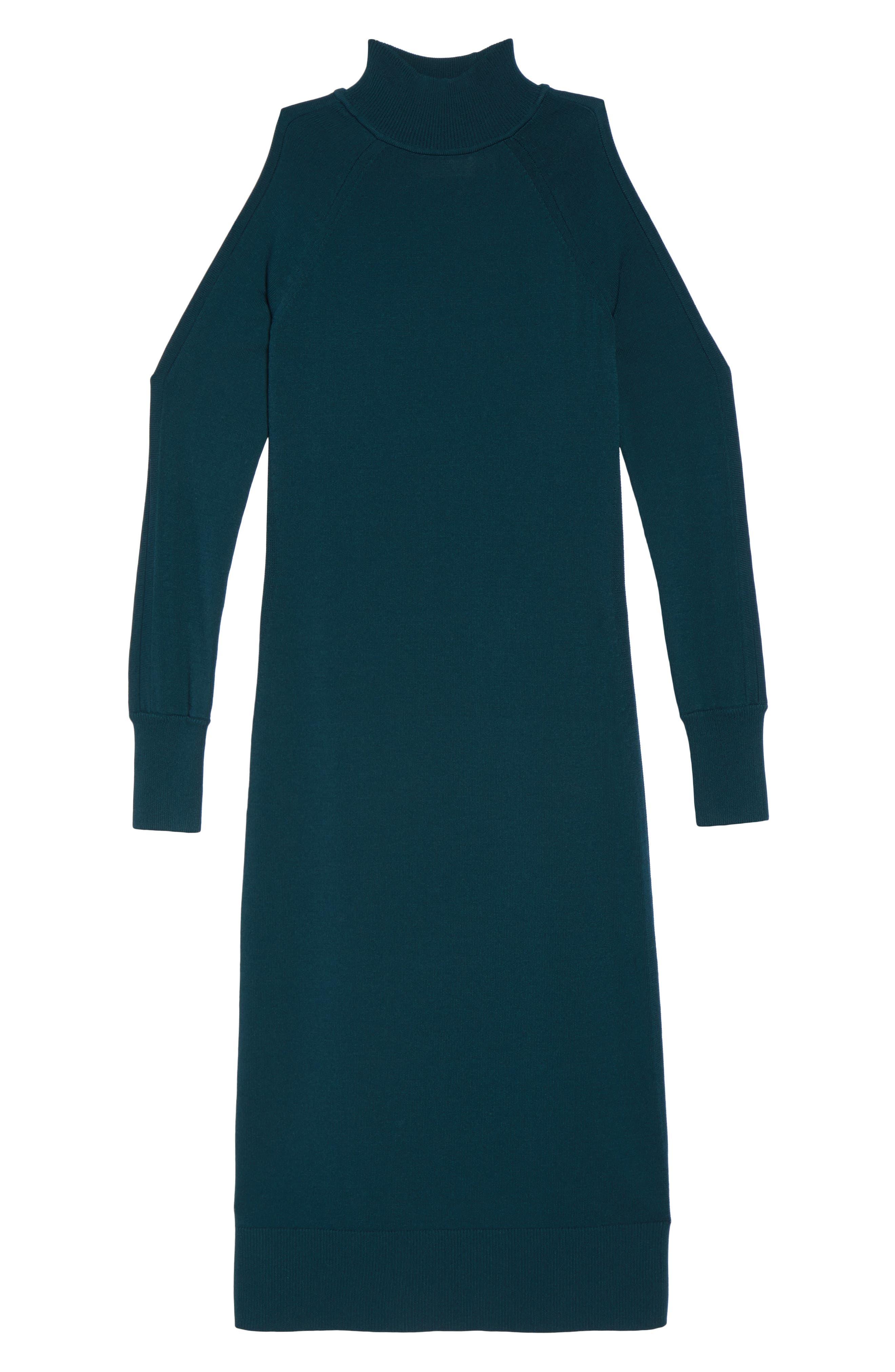 Alternate Image 6  - Vince Camuto Cold Shoulder Turtleneck Dress