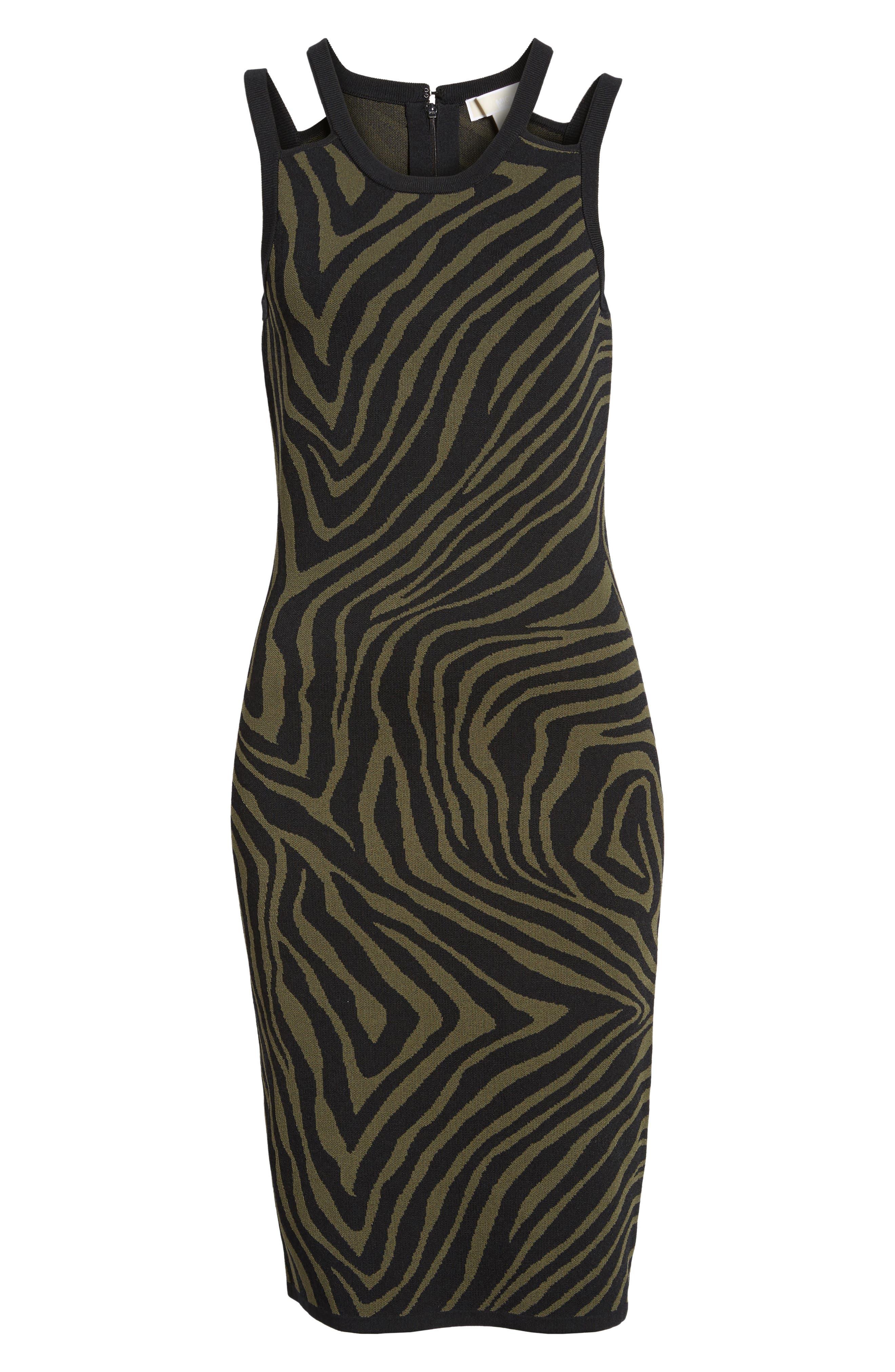 Double Trim Tank Dress,                             Alternate thumbnail 6, color,                             Ivy