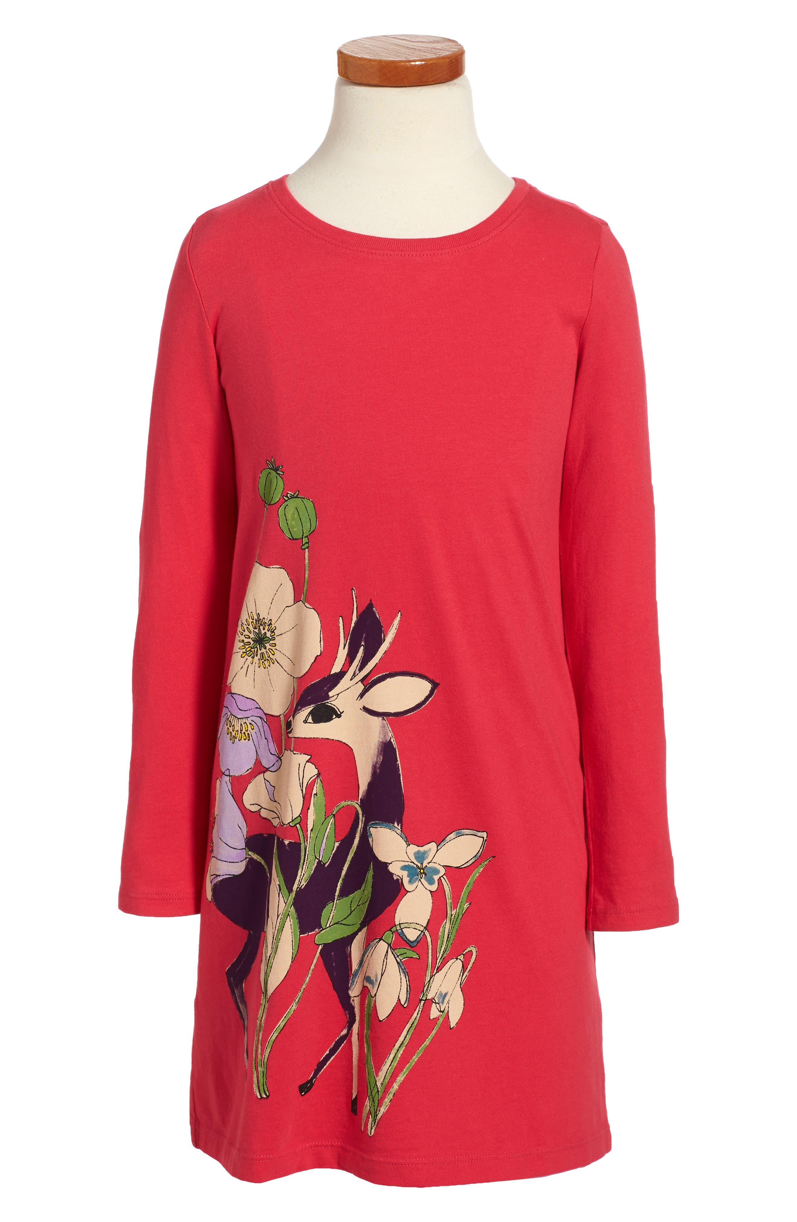 Rosemarkie Dress,                         Main,                         color, Cherry
