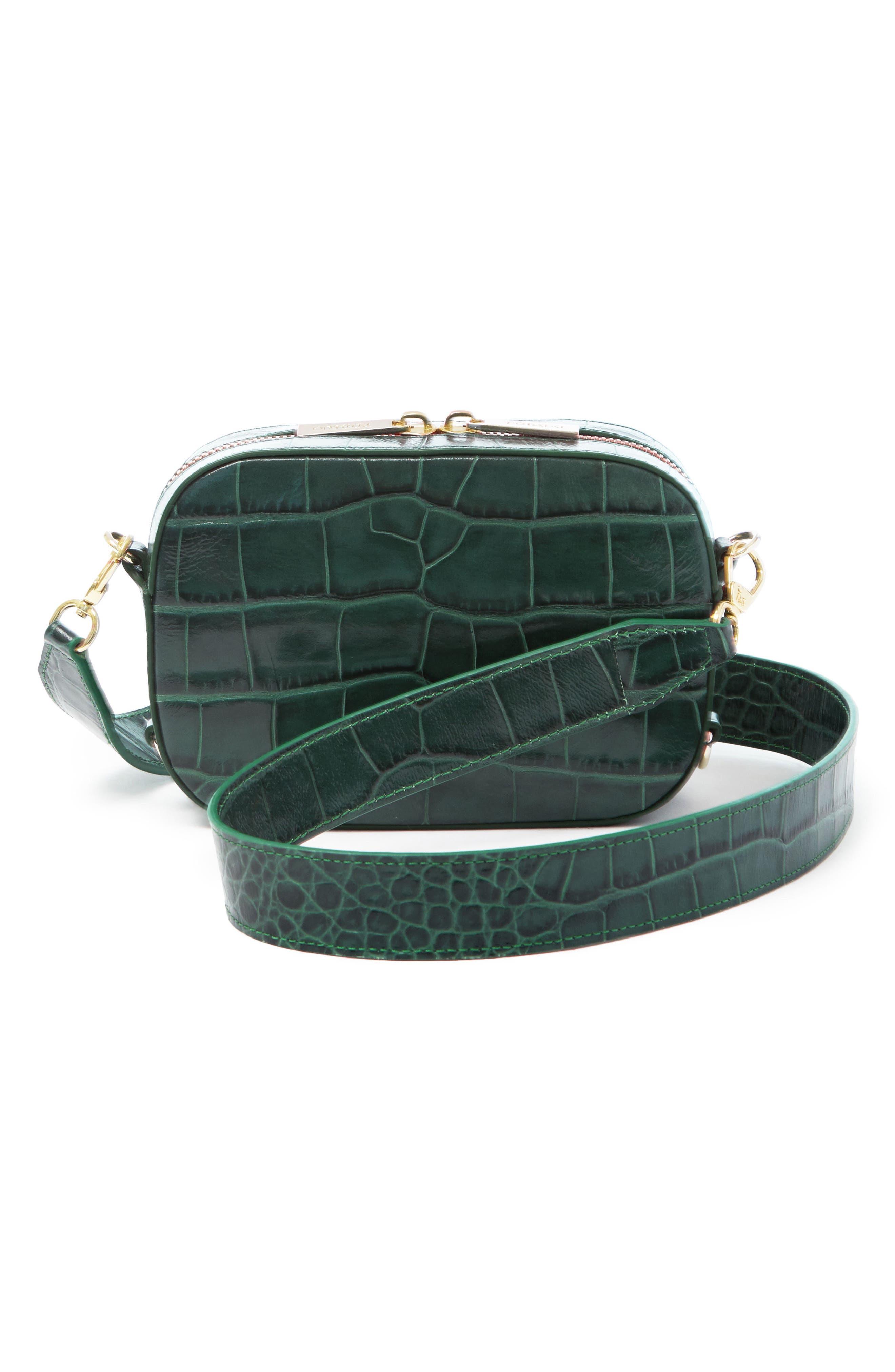 Main Image - Pop & Suki Croc Embossed Camera Bag (Nordstrom Exclusive)