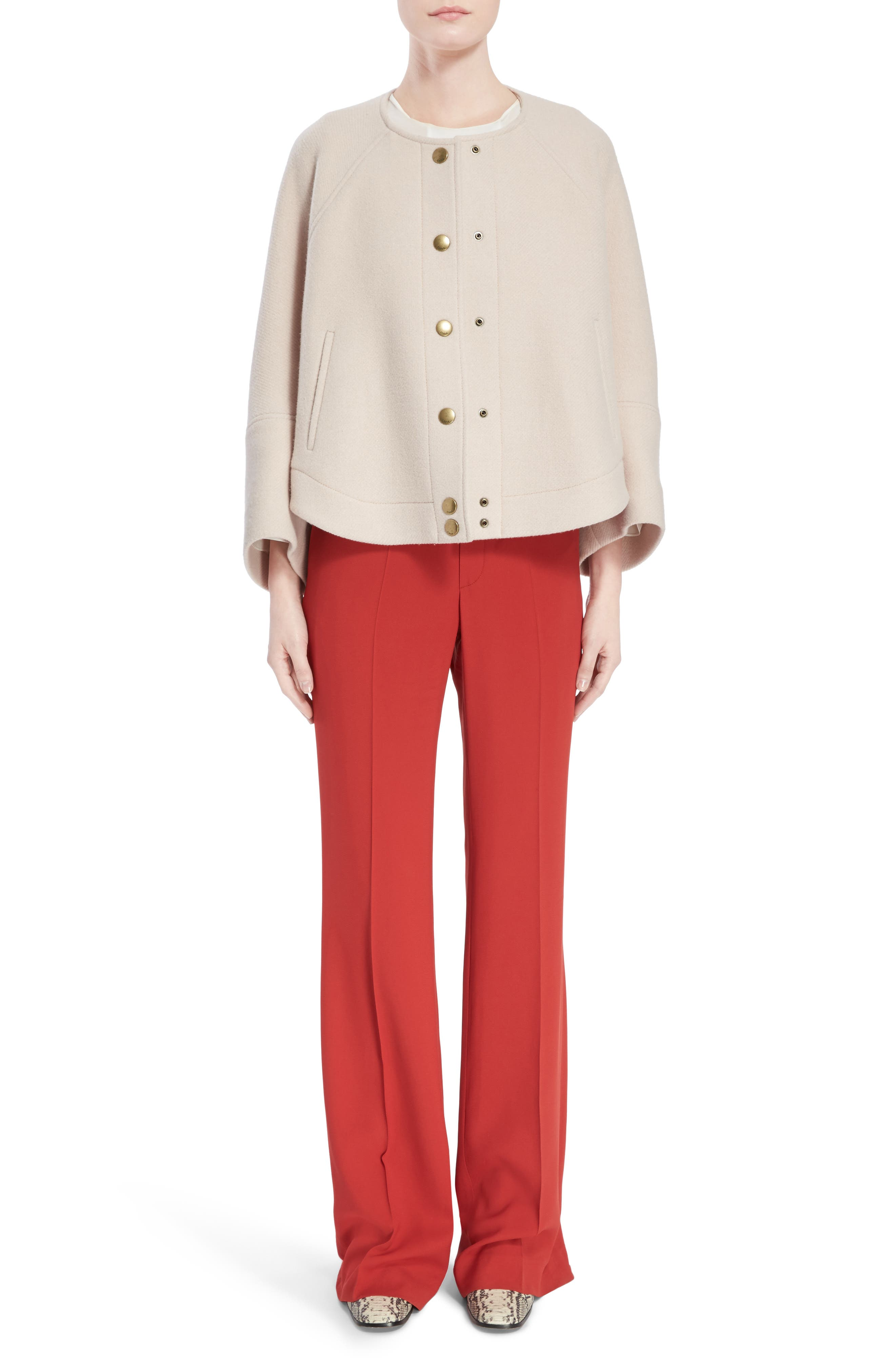 Cady Flare Suiting Pants,                             Alternate thumbnail 9, color,                             Ginger Red