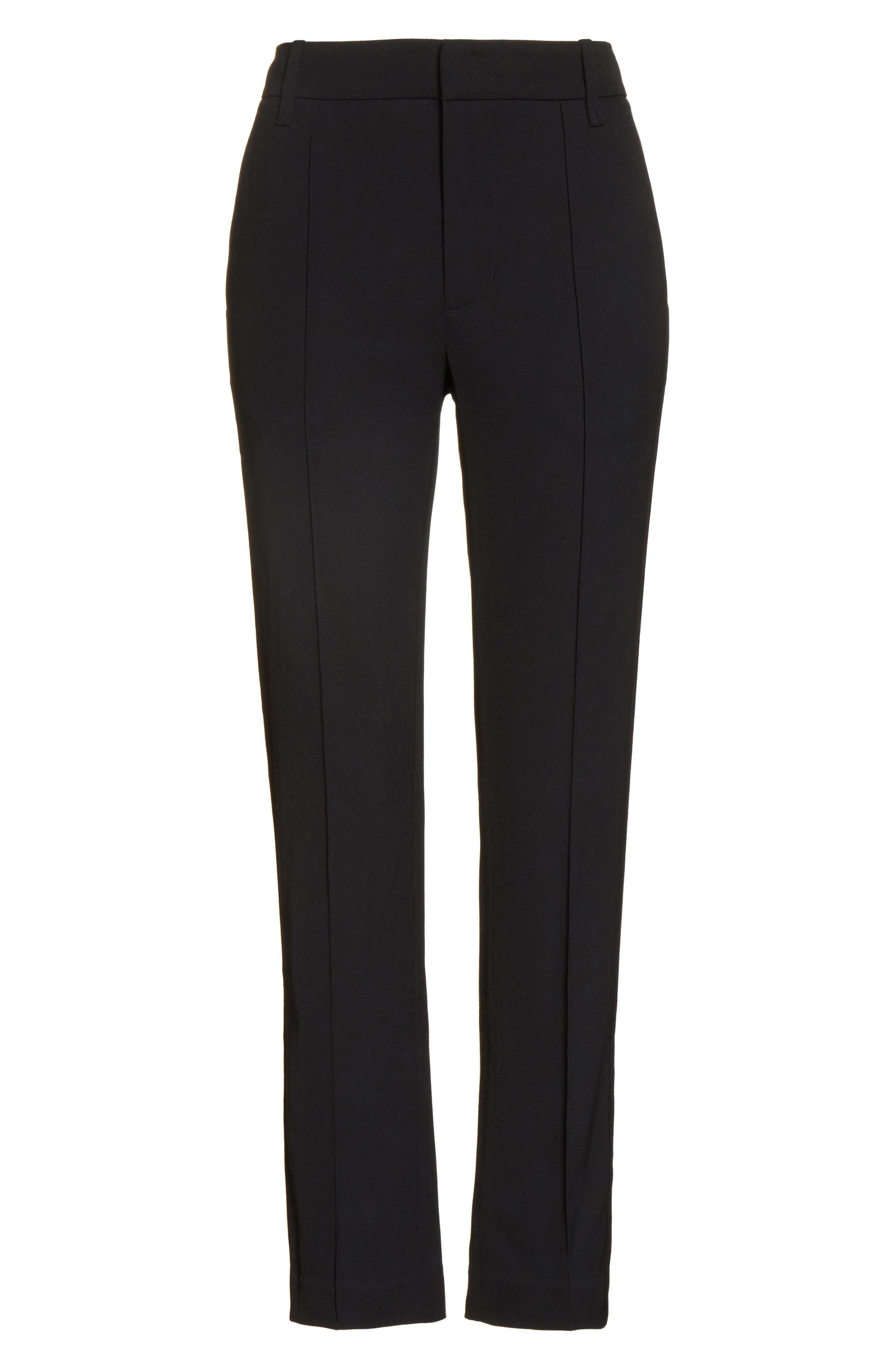 Stitch Front Pants,                             Alternate thumbnail 6, color,                             Black