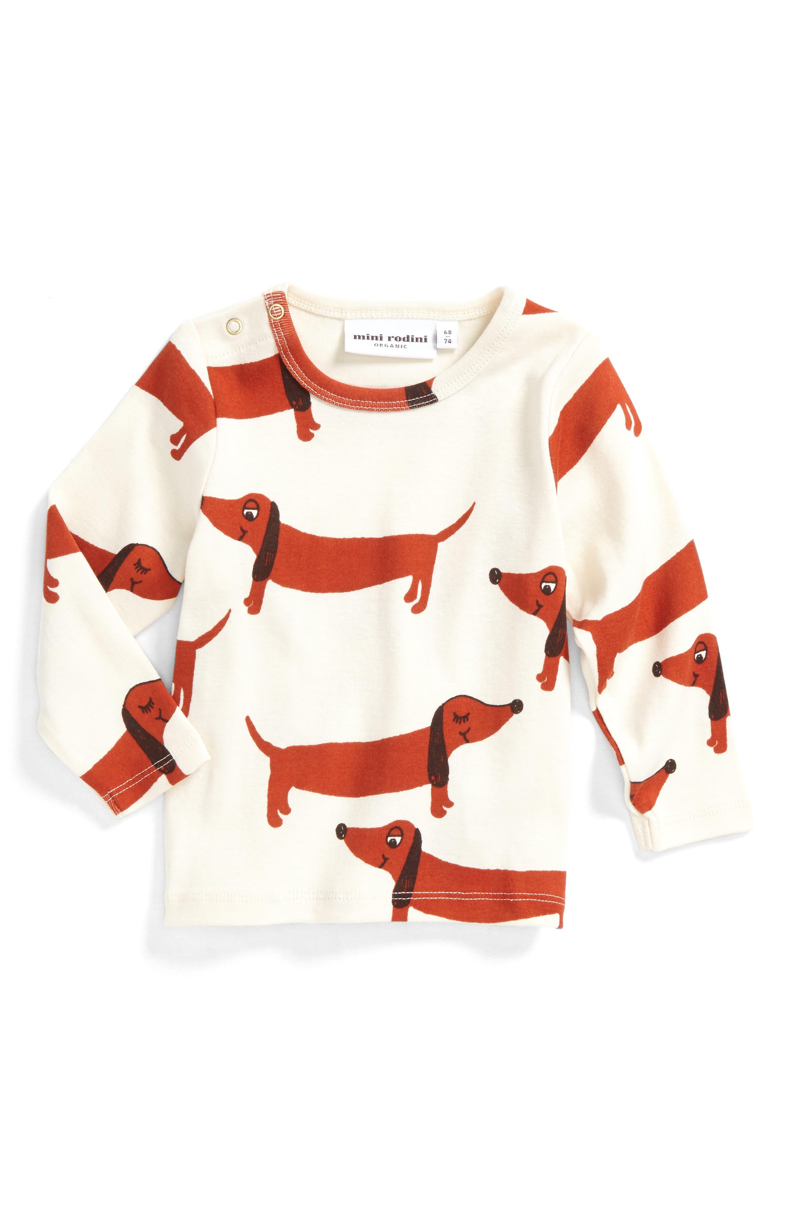 Mini Rodini Dog Graphic T-Shirt (Baby Boys)