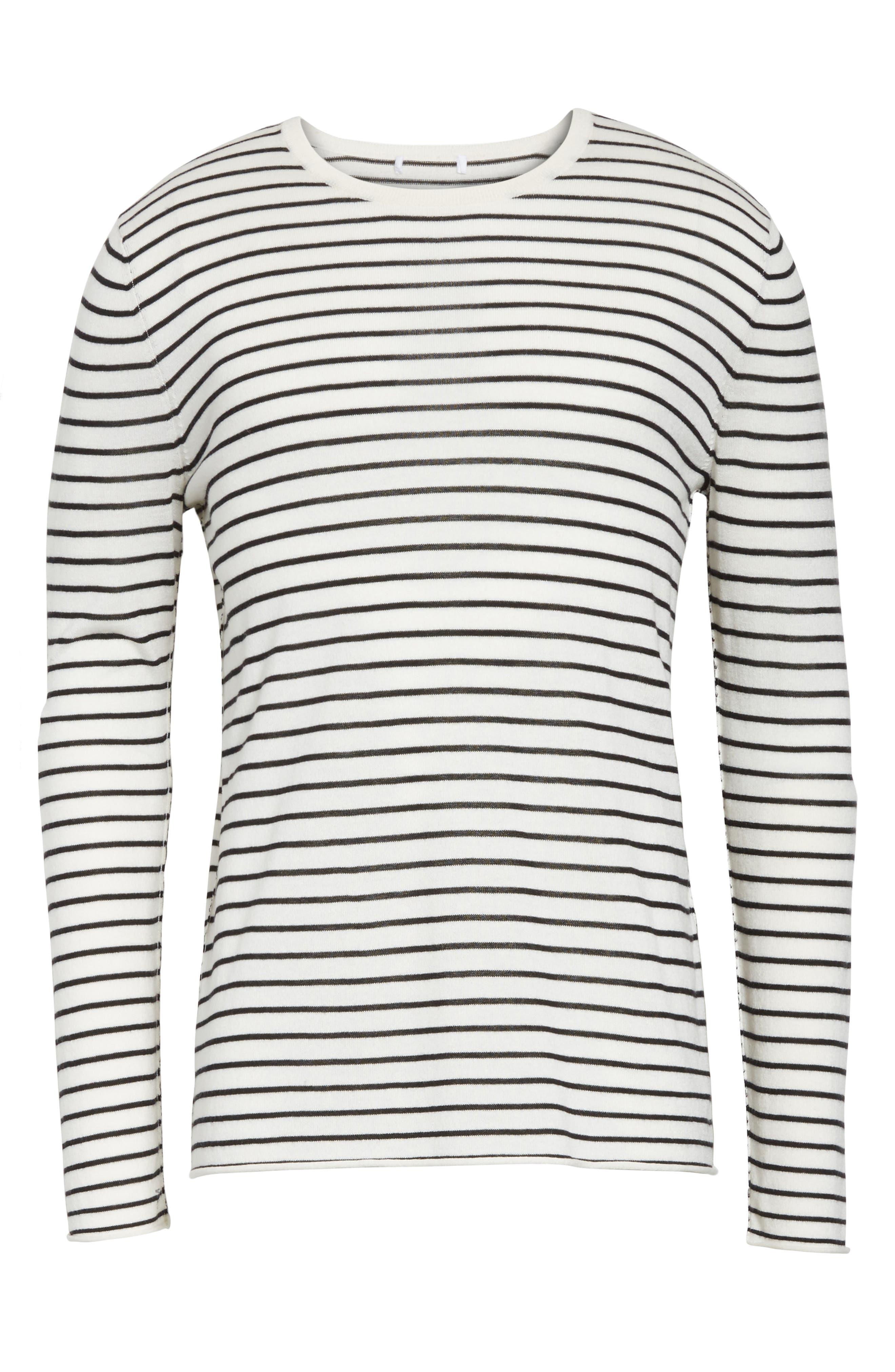 Alternate Image 6  - ATM Anthony Thomas Melillo Stripe Silk Blend Sweater