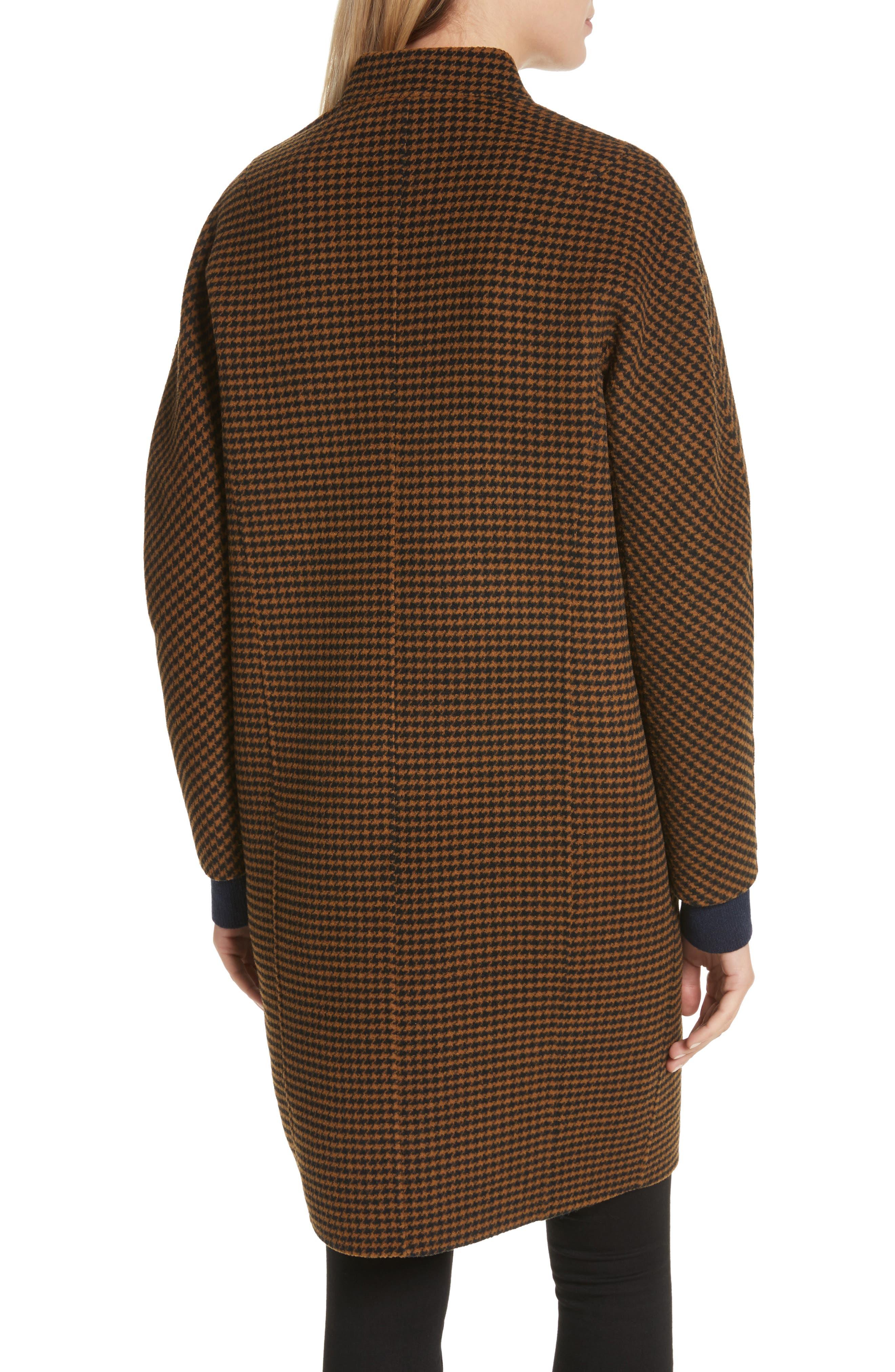 Darwen Reversible Wool & Cashmere Coat,                             Alternate thumbnail 4, color,                             Brown/Black