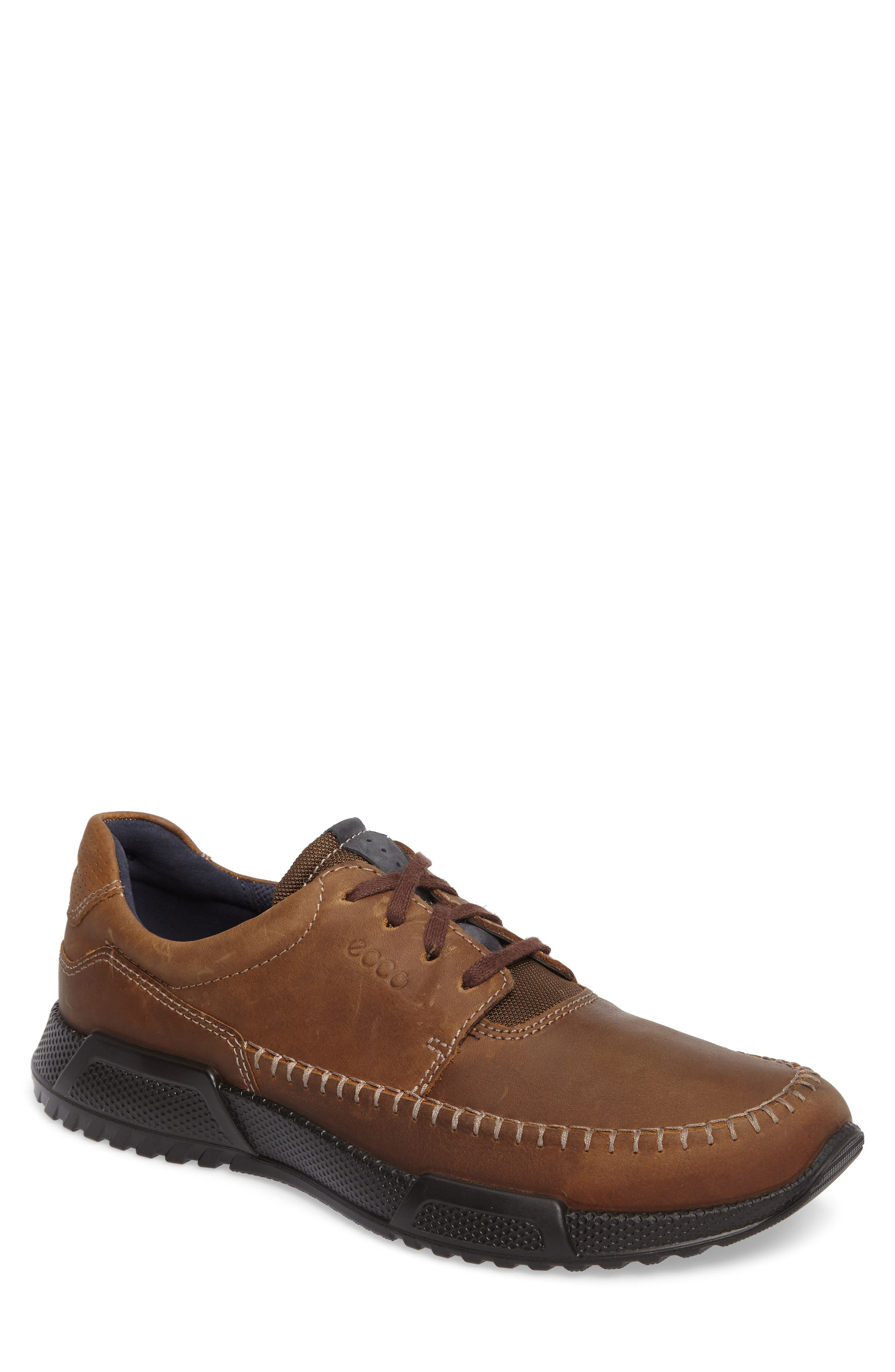 Luca Moc Toe Oxford,                             Main thumbnail 1, color,                             Camel/ Marine Nubuck