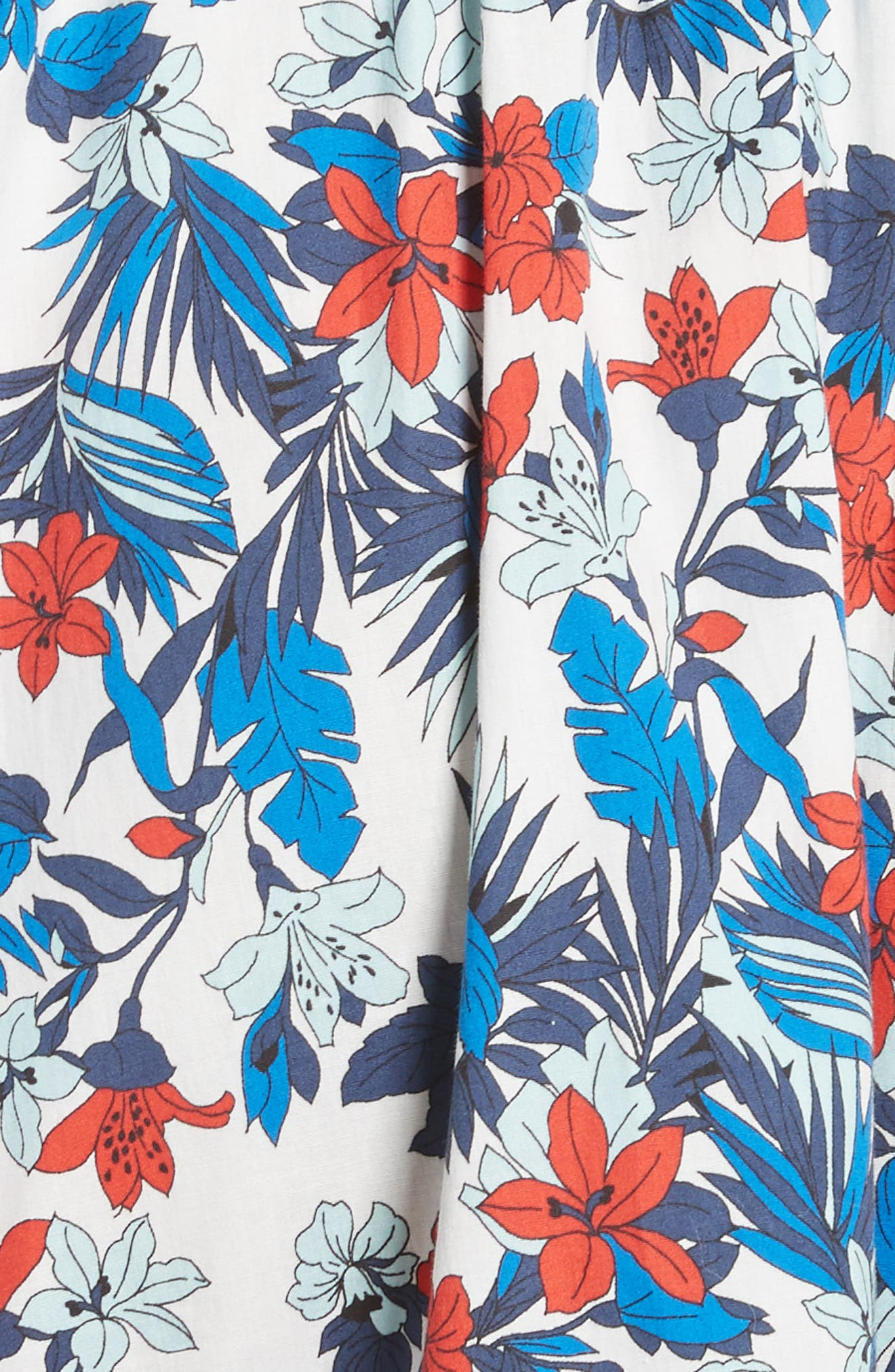 Alternate Image 5  - Milly Hibiscus Print Fit & Flare Dress