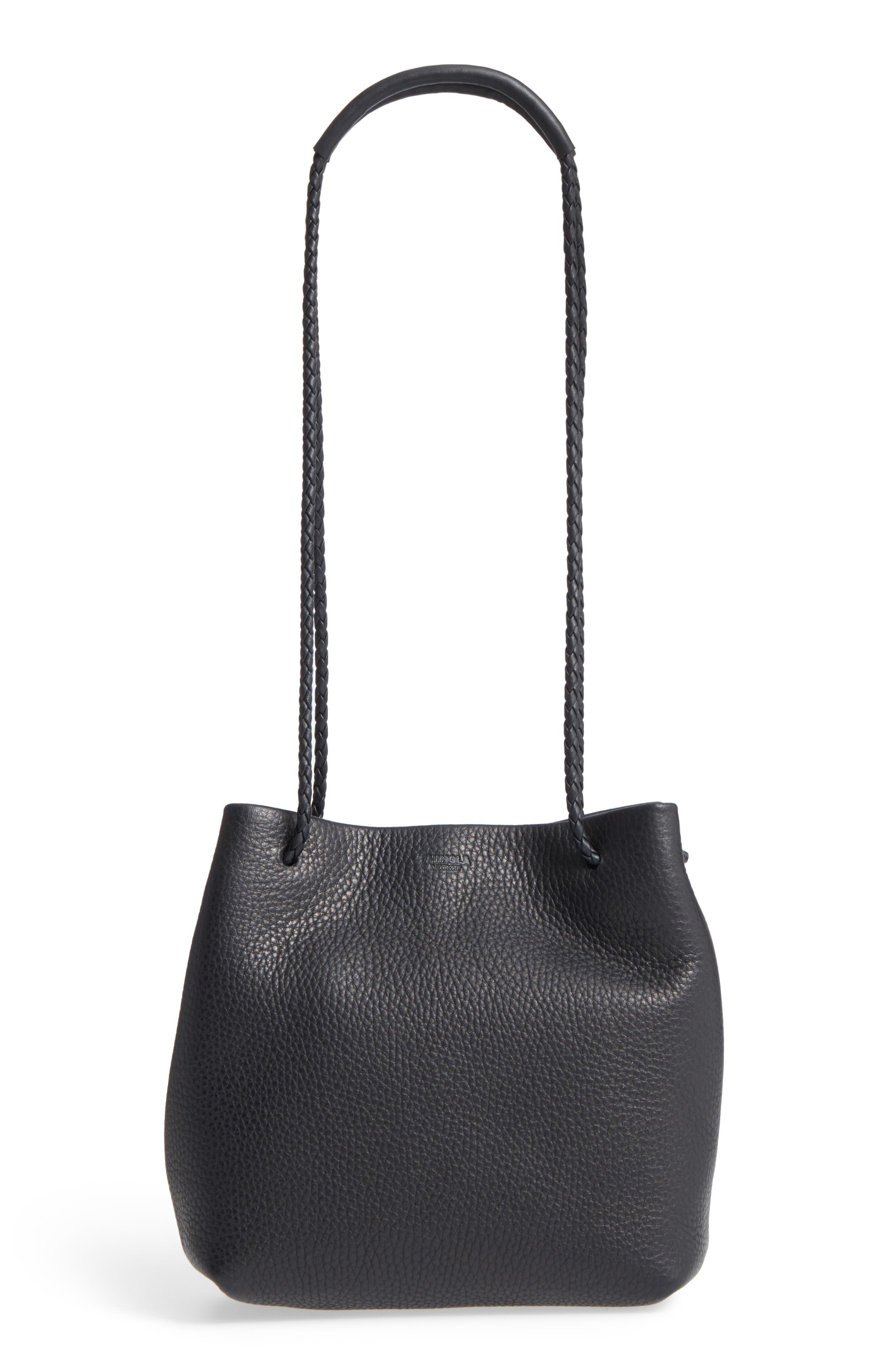 Shinola Mini Nappa Leather Drawstring Strap Bag