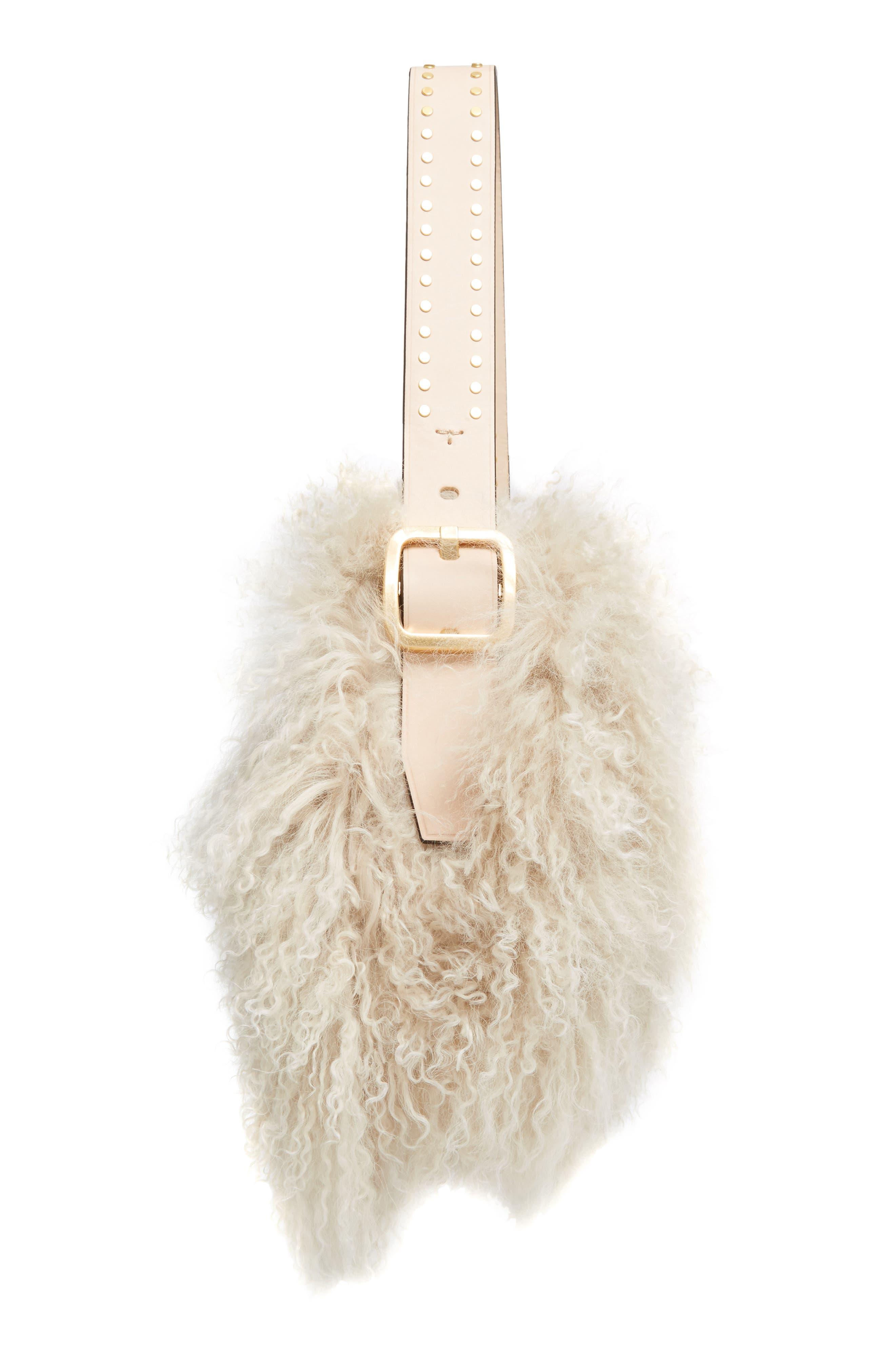 Alternate Image 4  - Tory Burch Sawyer Genuine Shearling Shoulder Bag