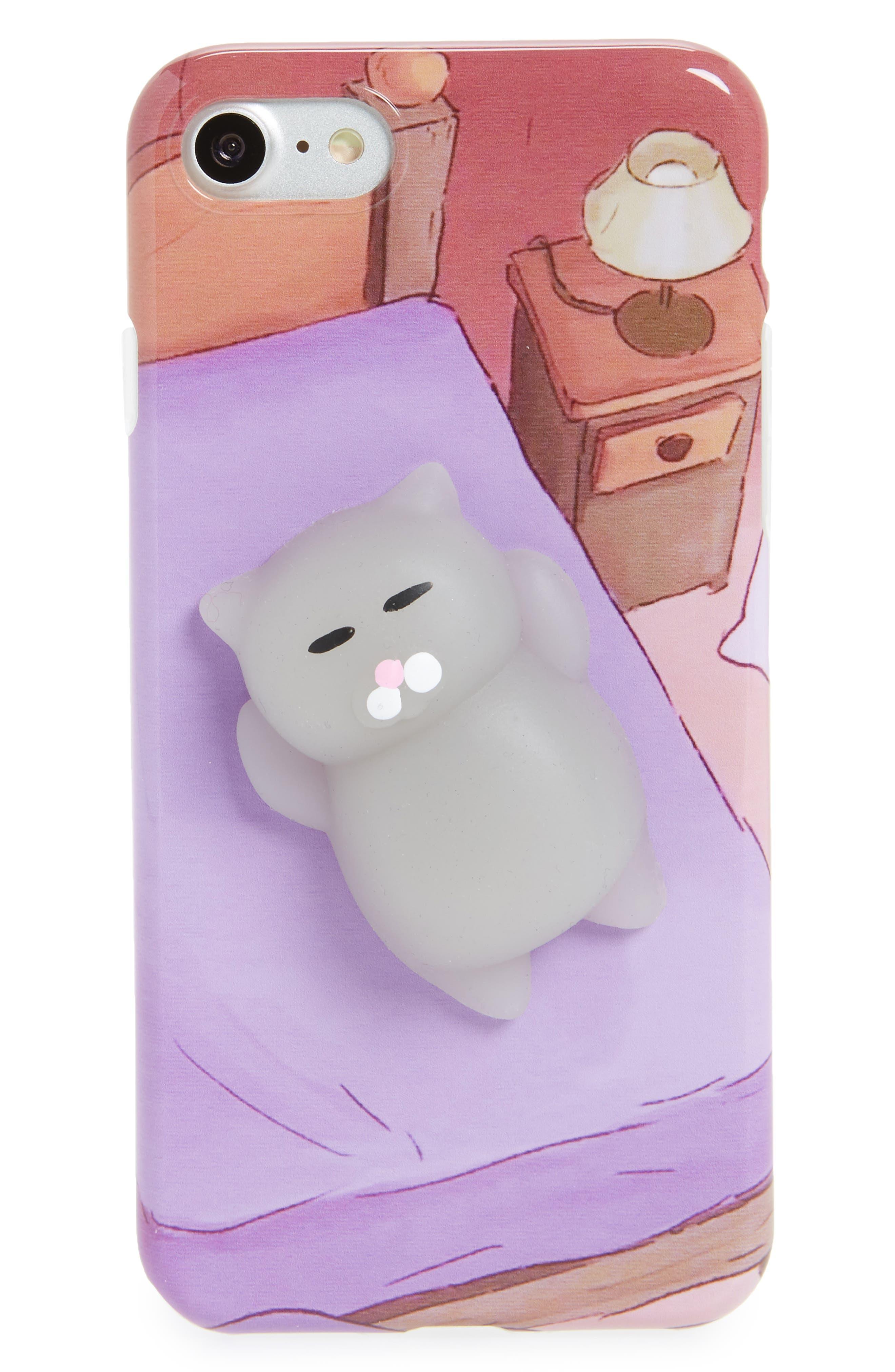 La Double 7 Squishy 3D Cat iPhone 7 Case