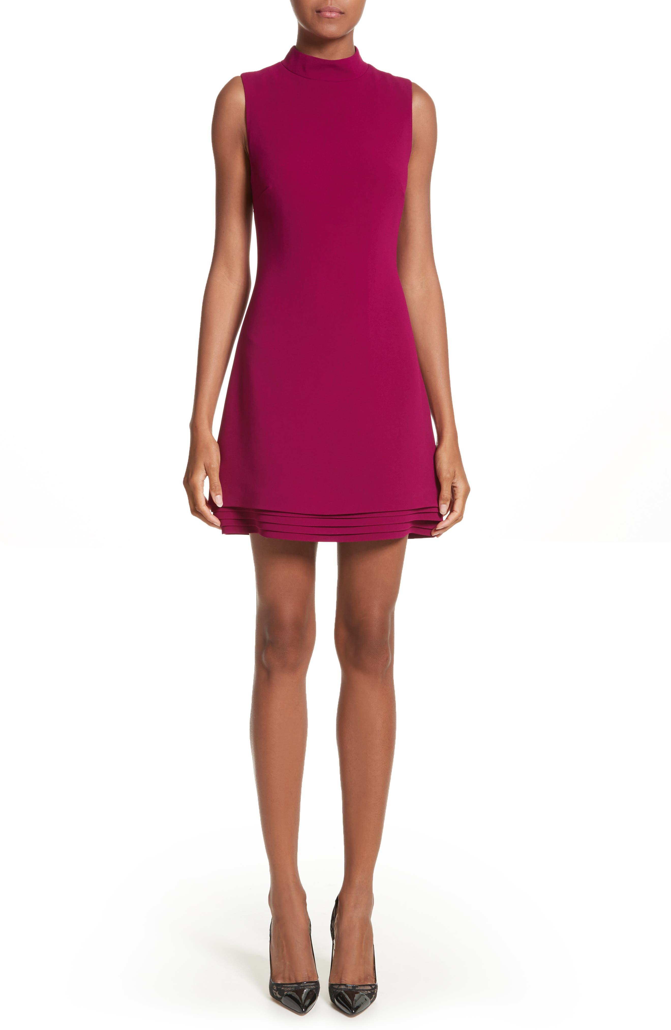 Layered Hem Shift Dress,                         Main,                         color, Pink