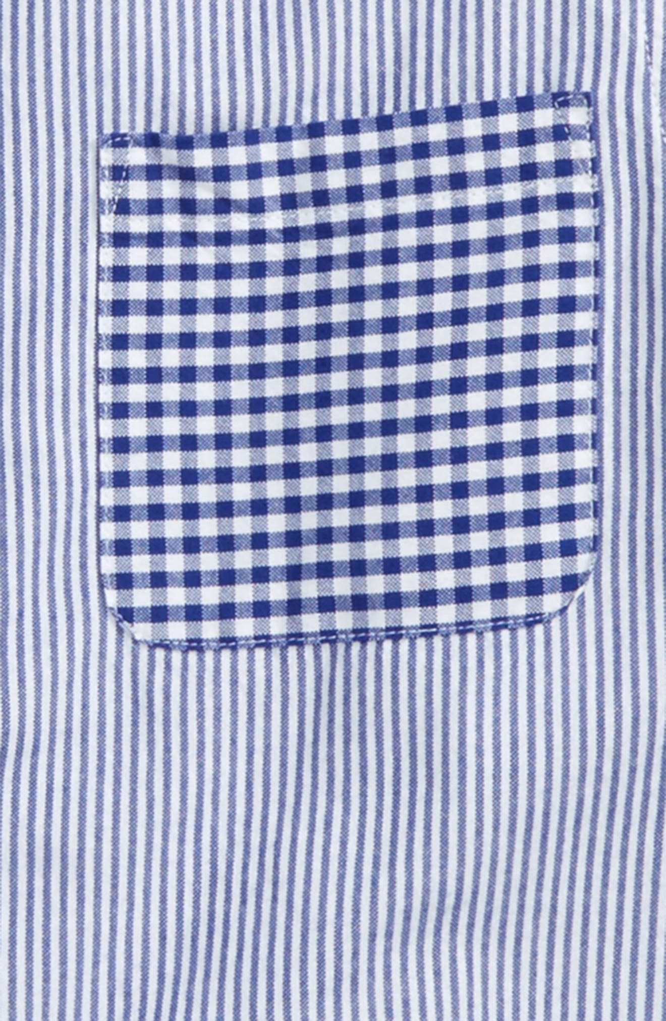 Alternate Image 3  - Mini Boden Hotchpotch Mixed Pattern Dress Shirt (Toddler Boys, Little Boys & Big Boys)