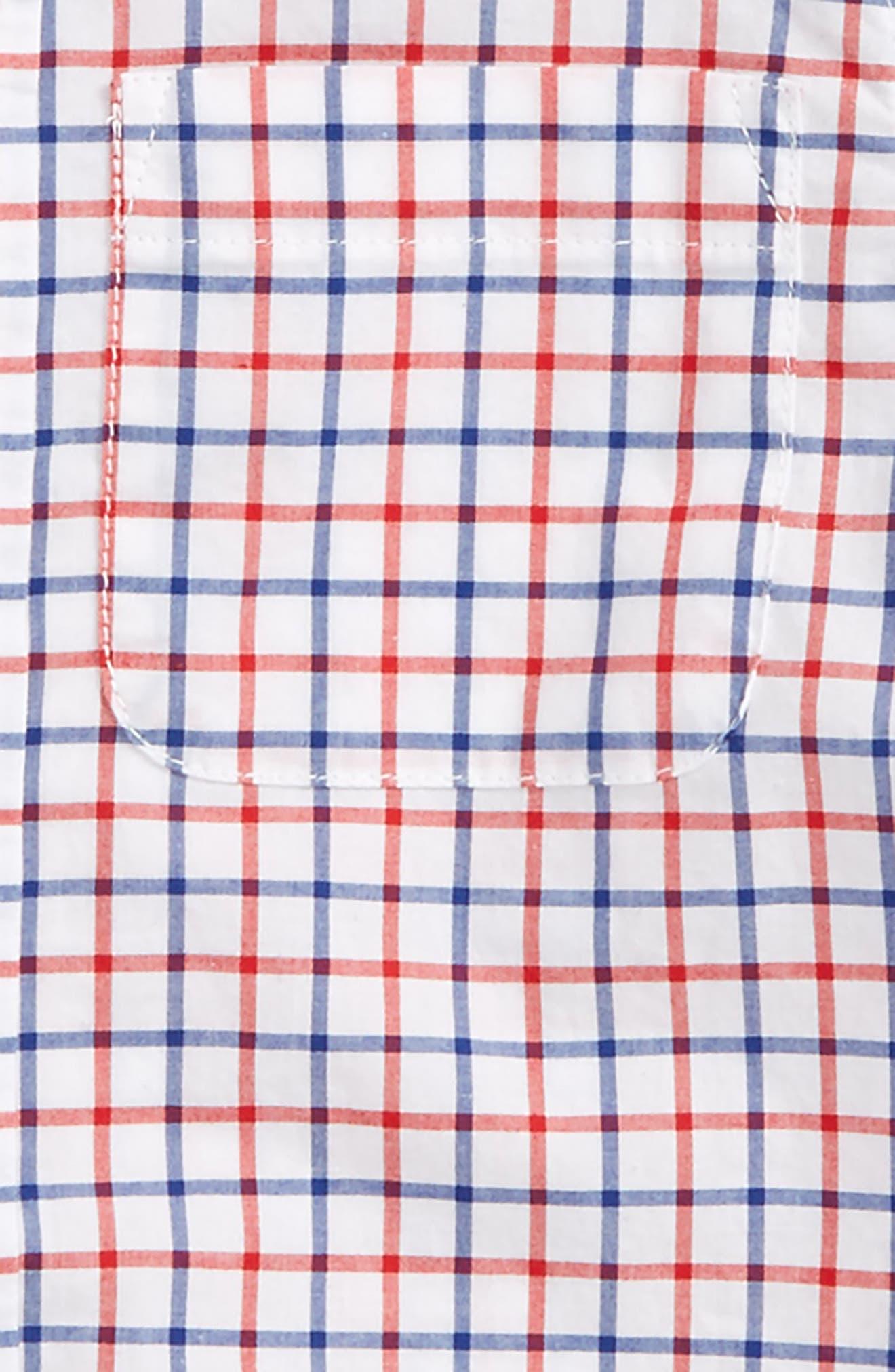 Laundered Shirt,                             Alternate thumbnail 2, color,                             Klein Blue/ Red Tattersall