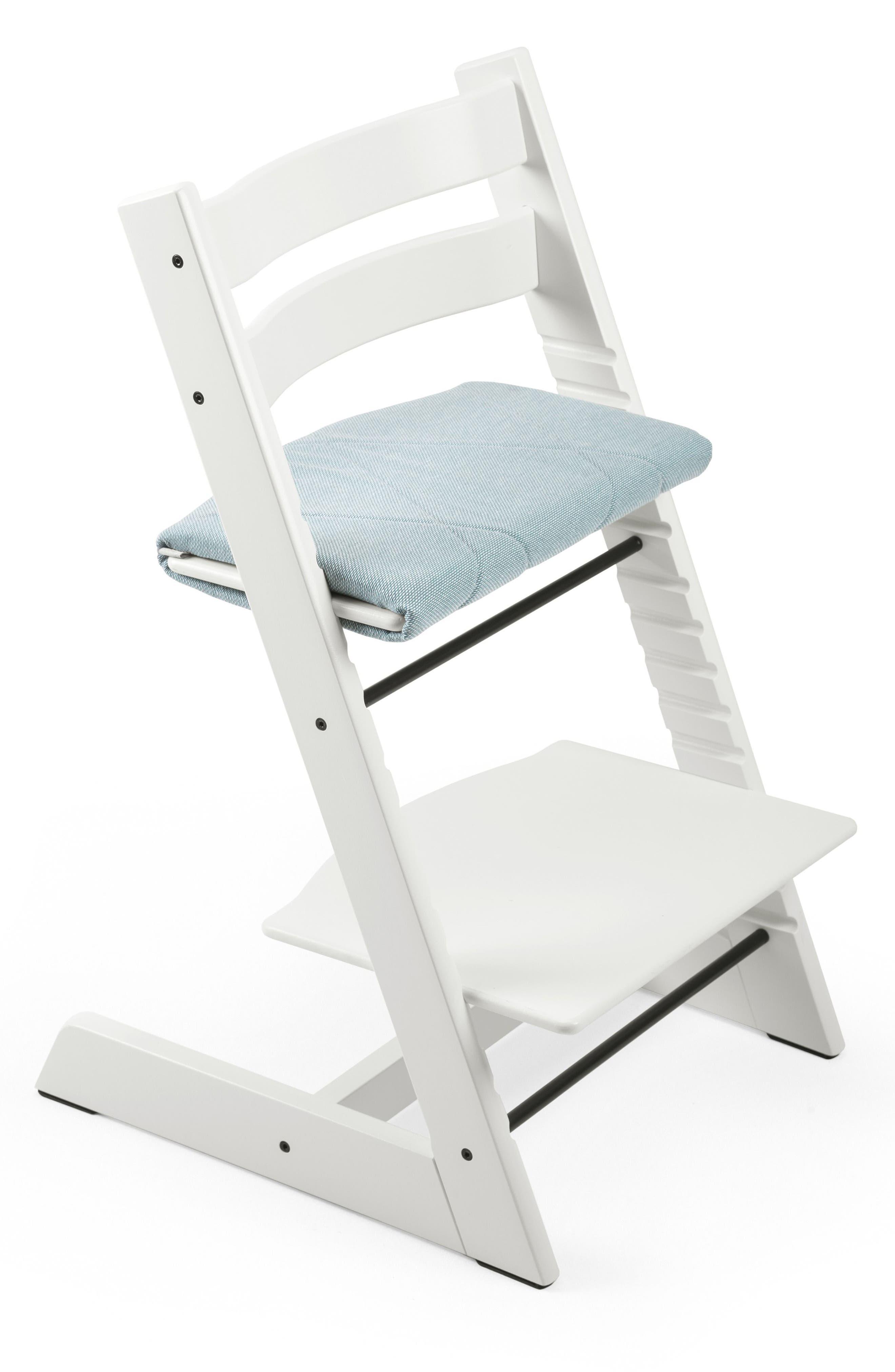 Seat Junior Cushion for Tripp Trapp<sup>®</sup> Chair,                         Main,                         color, Jade Twill
