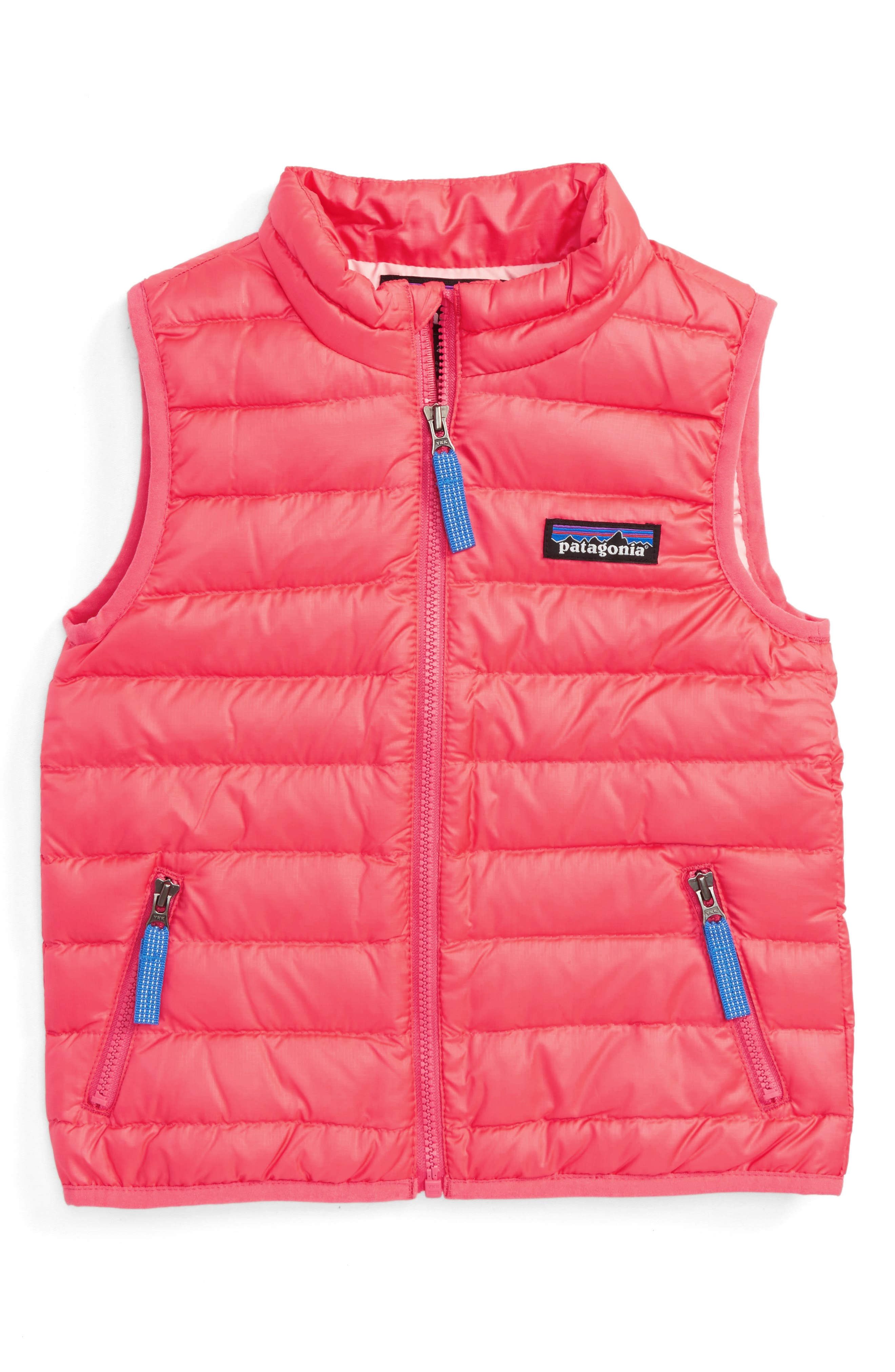 600-Fill Down Sweater Vest,                         Main,                         color, Indy Pink