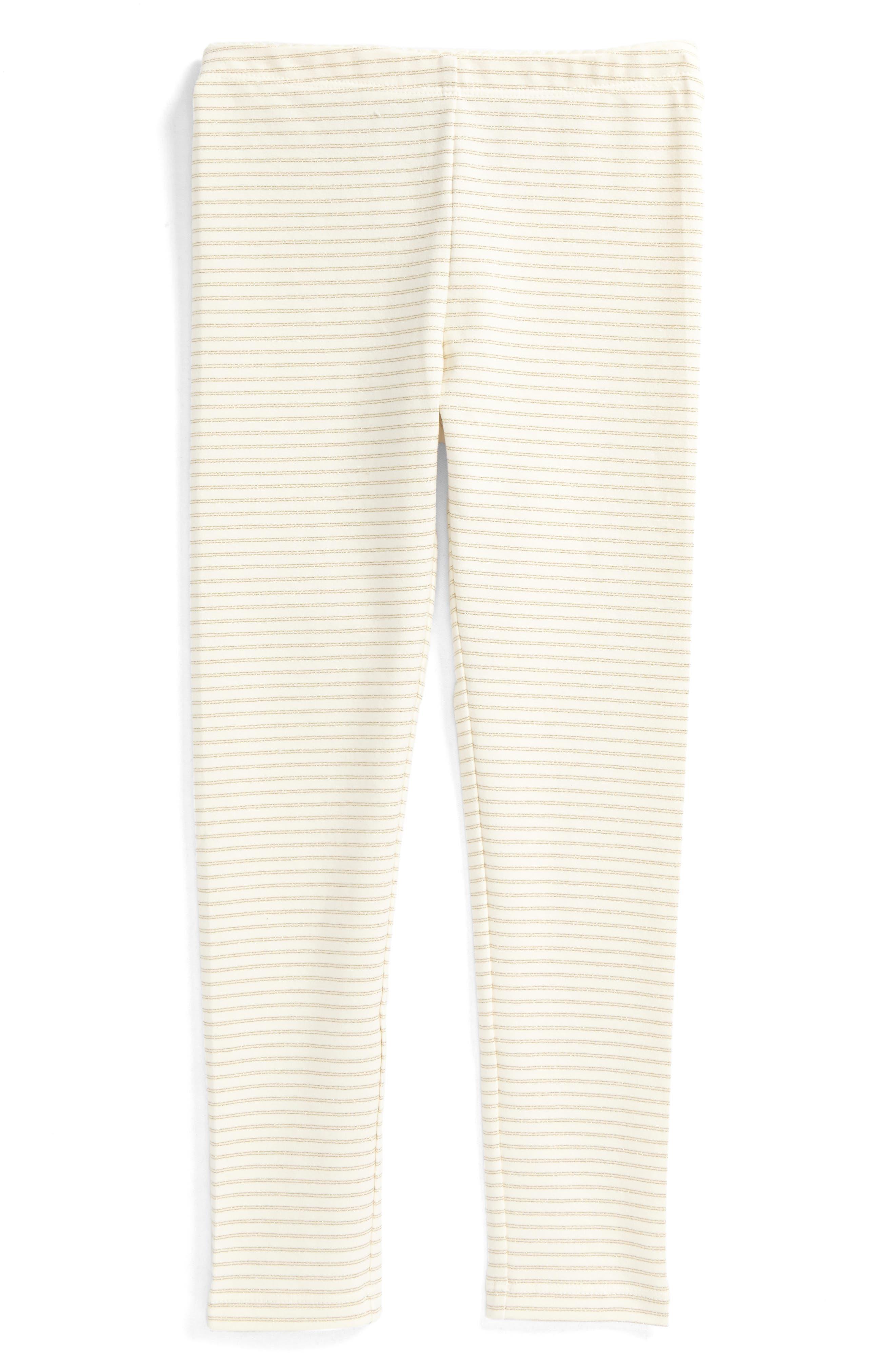 Alternate Image 1 Selected - Tea Collection Sparkle Stripe Leggings (Toddler Girls, Little Girls & Big Girls)