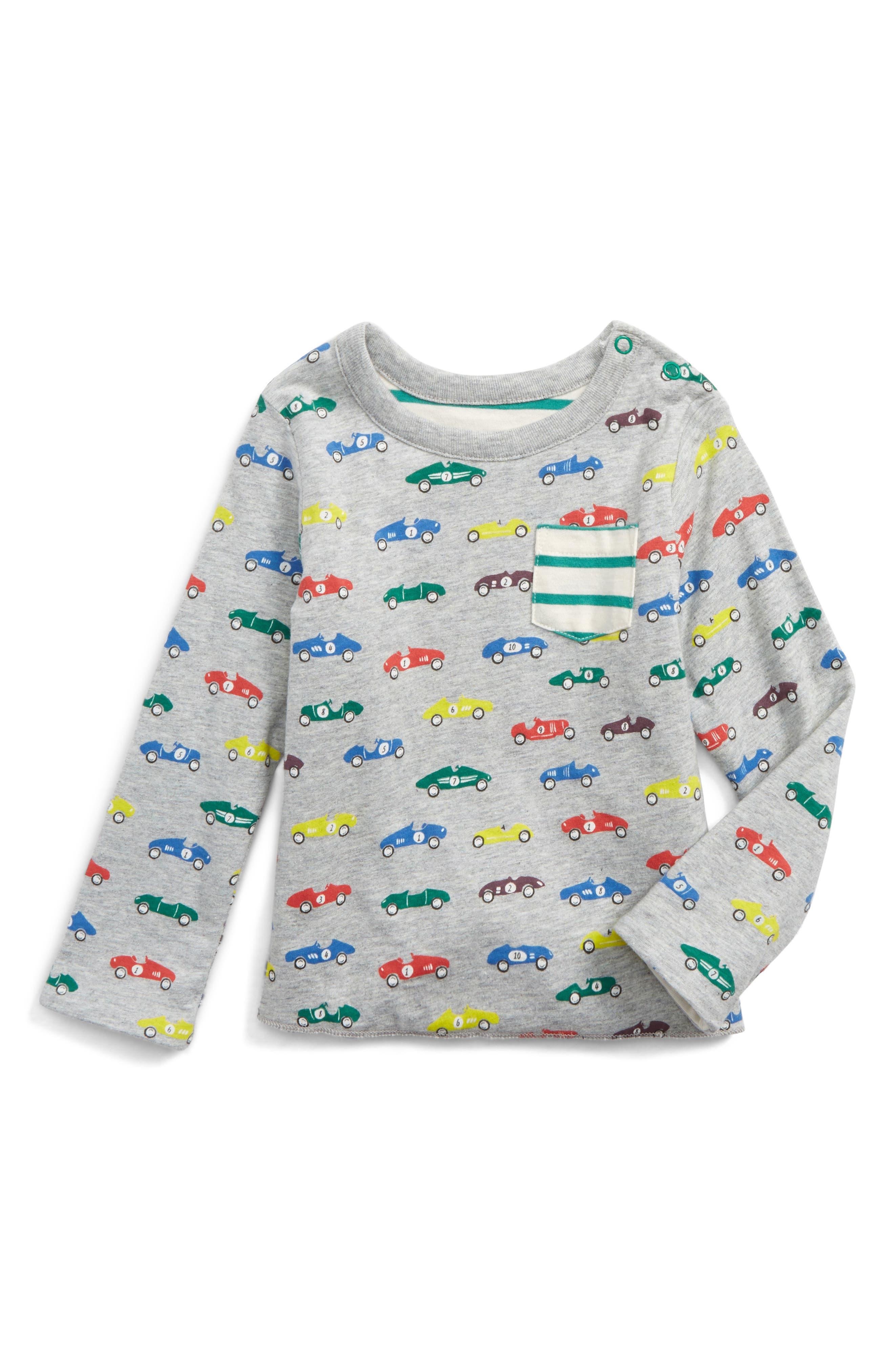 Reversible Print T-Shirt,                         Main,                         color, Grey Marl Vintage Cars