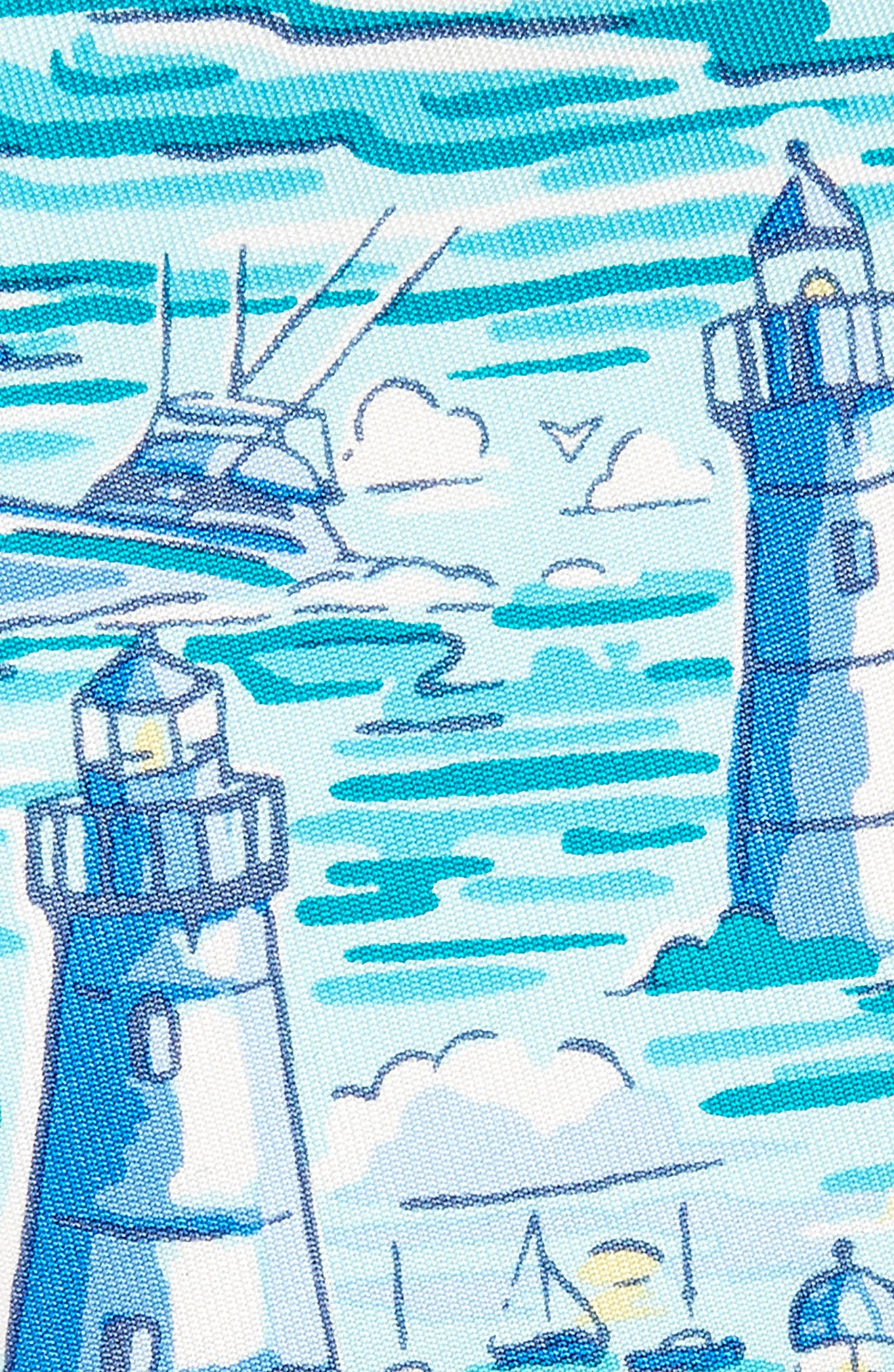 Lighthouse Silk Tie,                             Alternate thumbnail 2, color,                             Blue Multi