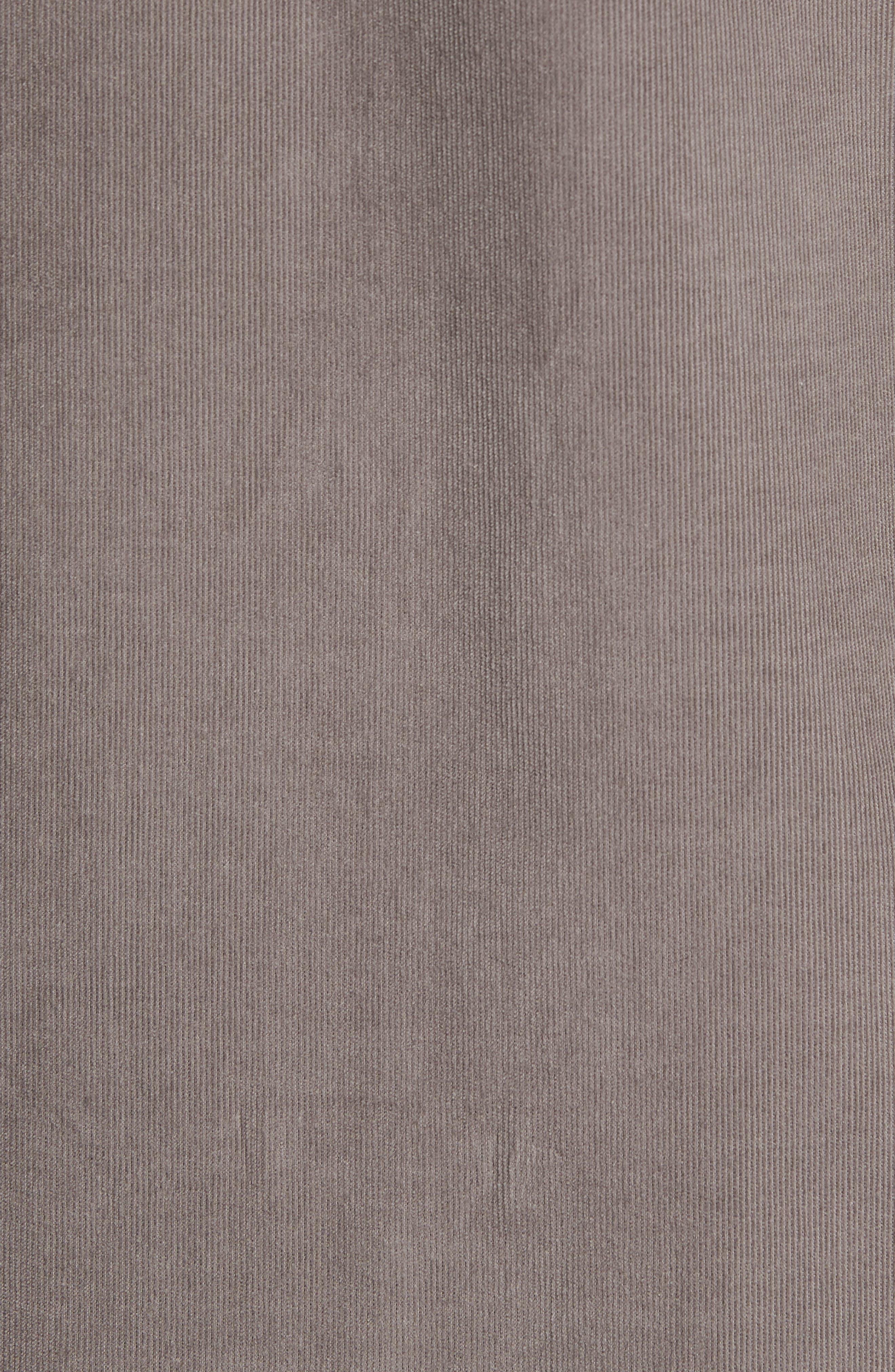 Harrison Cord Standard Fit Shirt,                             Alternate thumbnail 5, color,                             Pebble Grey