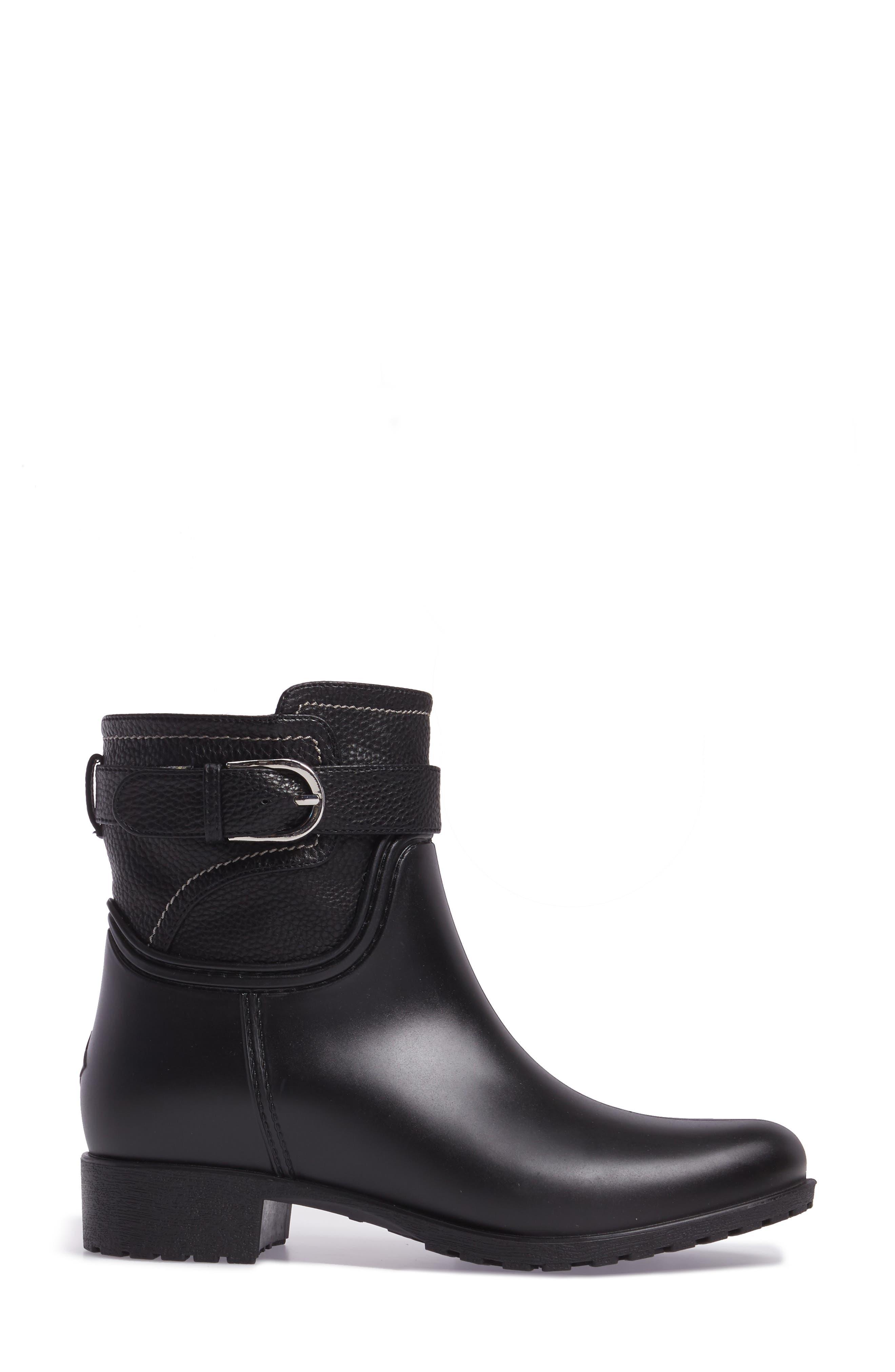 Bowie Faux Water Resistant Mid Boot,                             Alternate thumbnail 3, color,                             Black