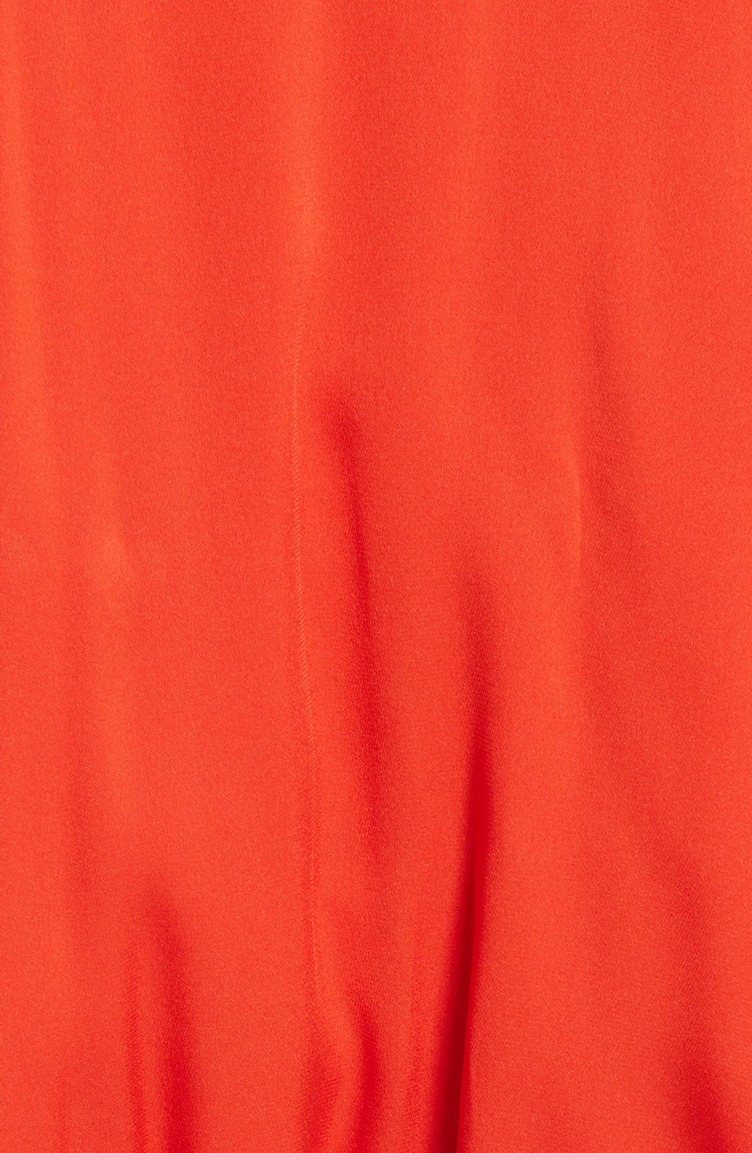 Alternate Image 5  - Milly Bryce Ruffle Stretch Silk Fit & Flare Dress