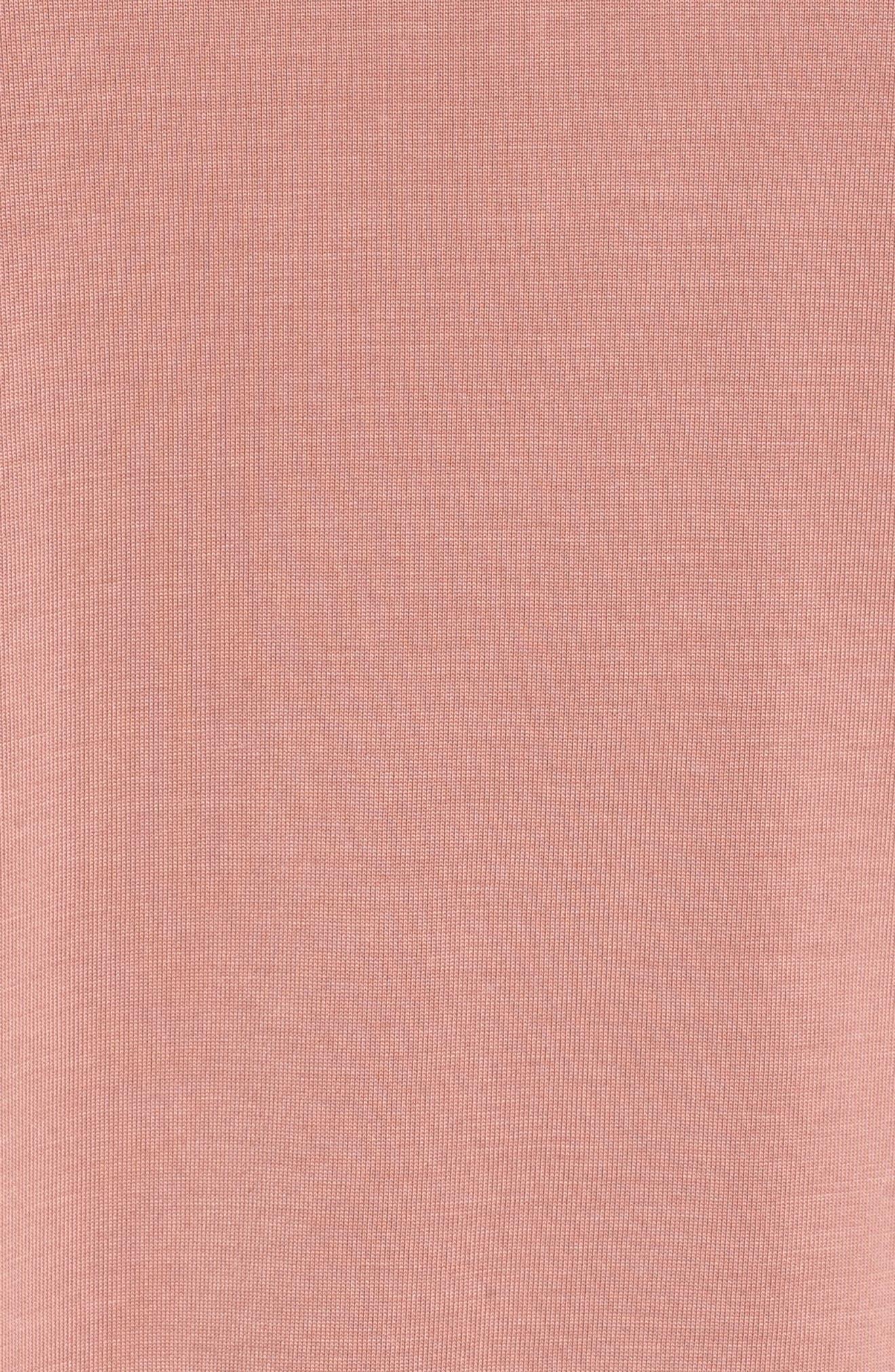 Ruffle Hem Top,                             Alternate thumbnail 5, color,                             Pink Adobe