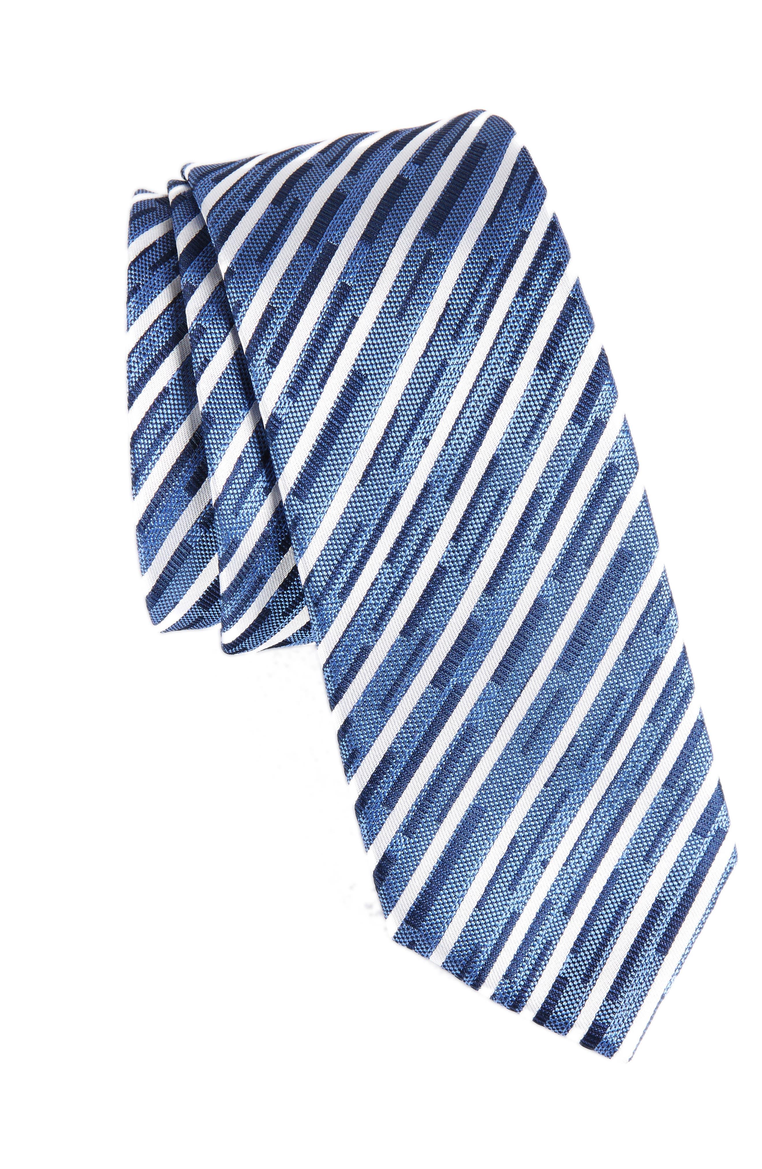 Stripe Tie,                         Main,                         color, Blue Multi