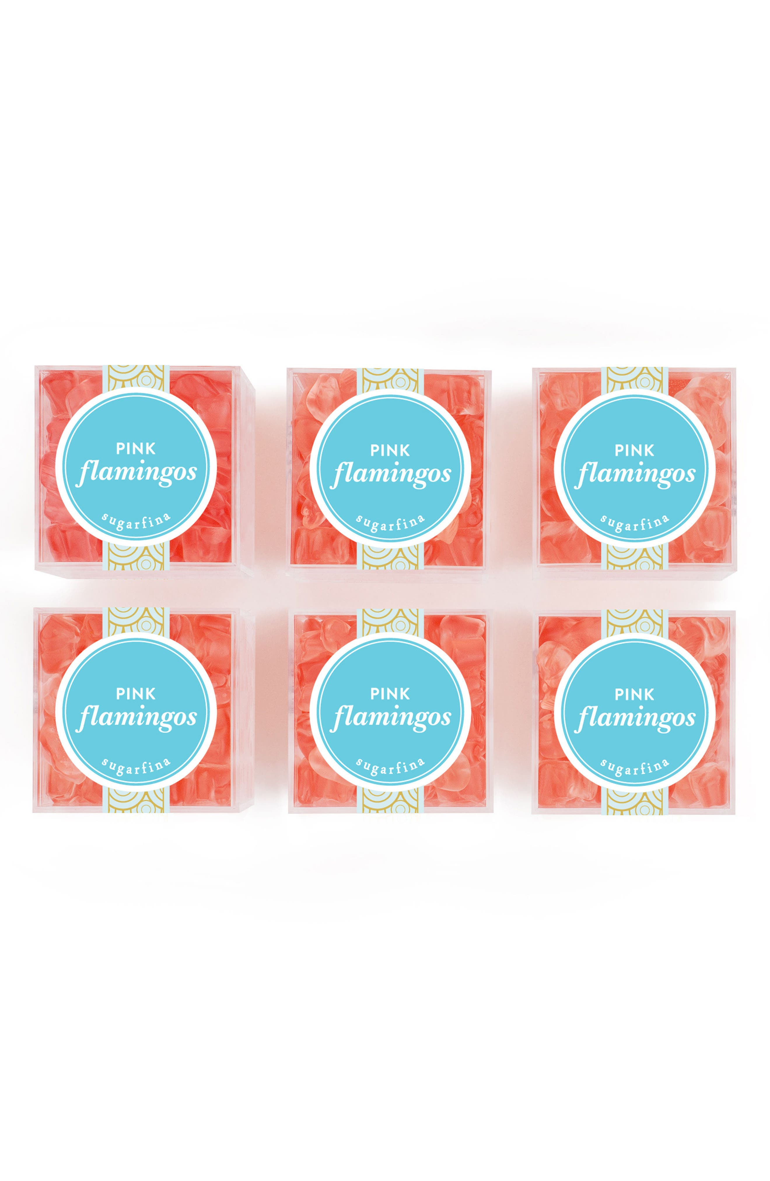 Set of 6 Pink Flamingos Candy Cubes,                         Main,                         color, Pink