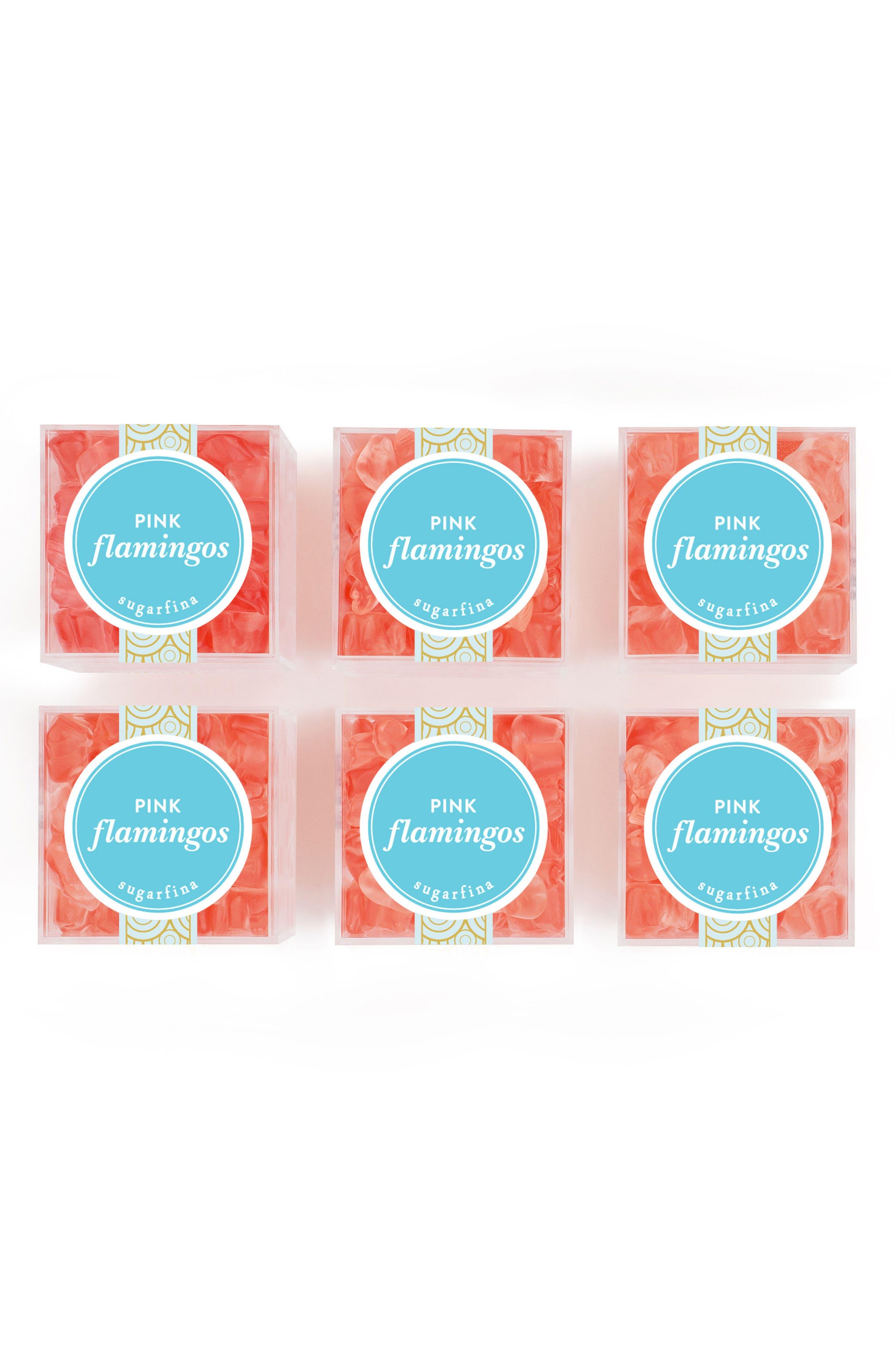 sugarfina Set of 6 Pink Flamingos Candy Cubes