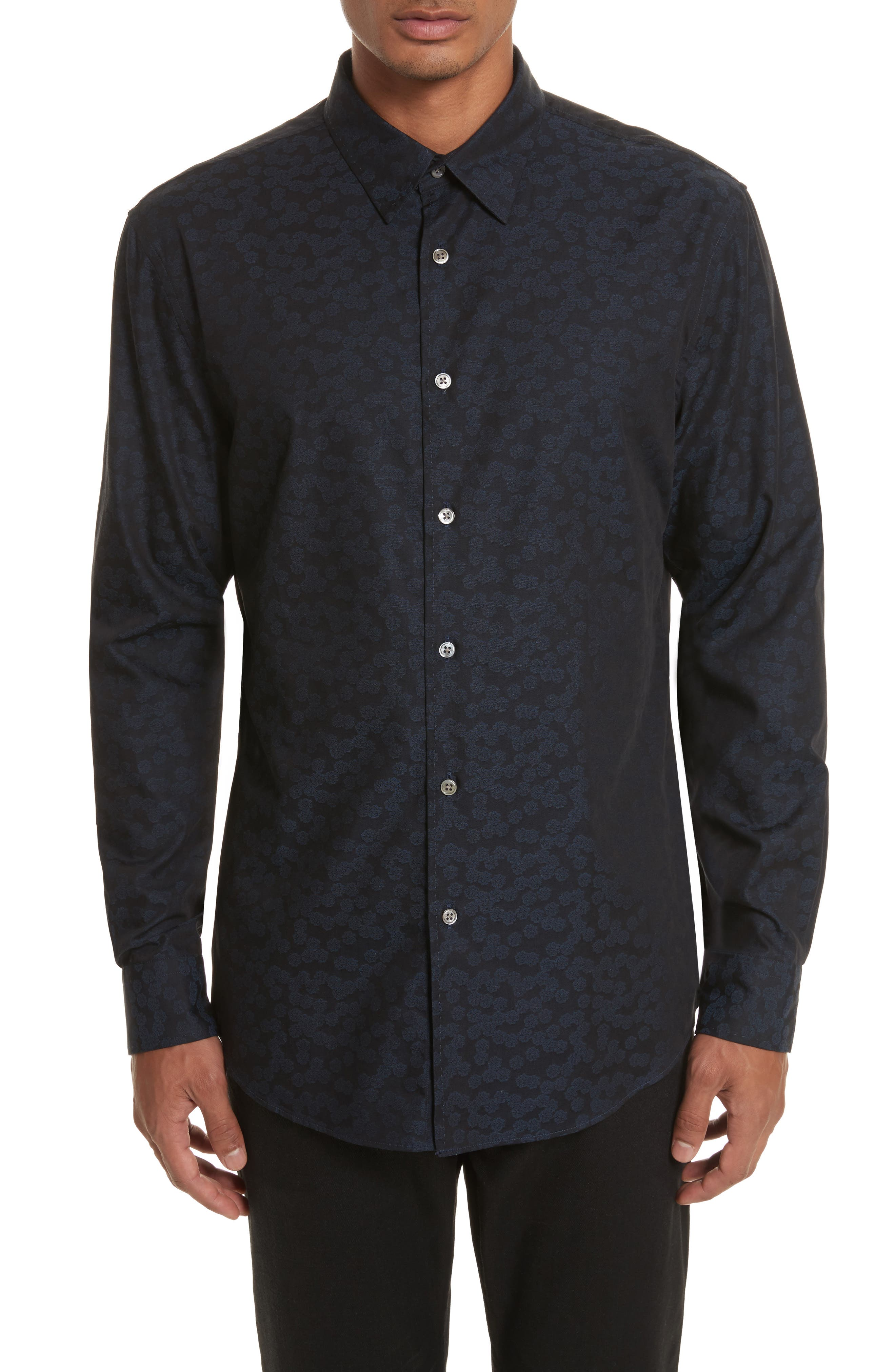 Main Image - John Varvatos Collection Classic Fit Jacquard Shirt
