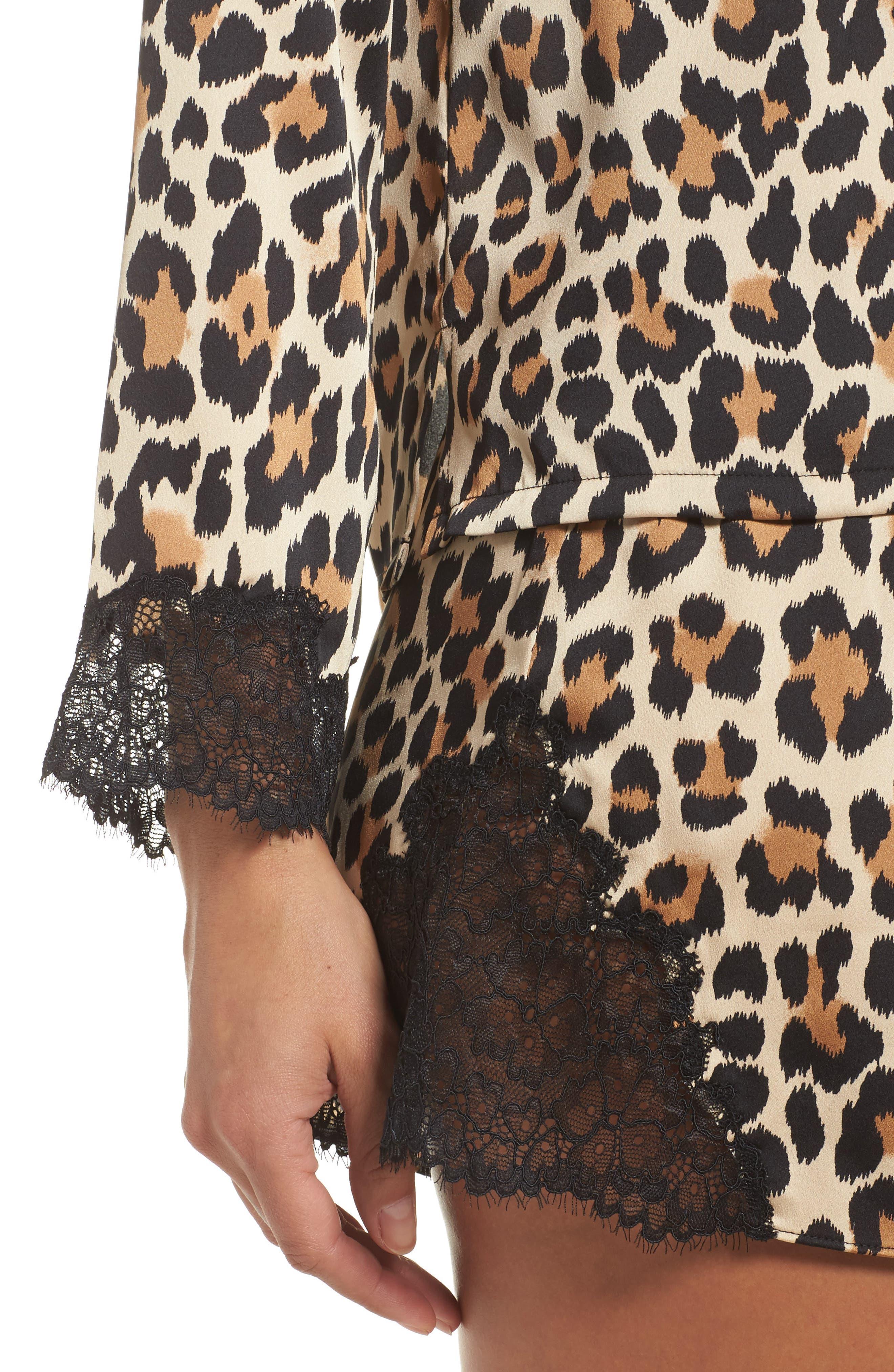 Alternate Image 5  - kate spade new york charmeuse short pajamas