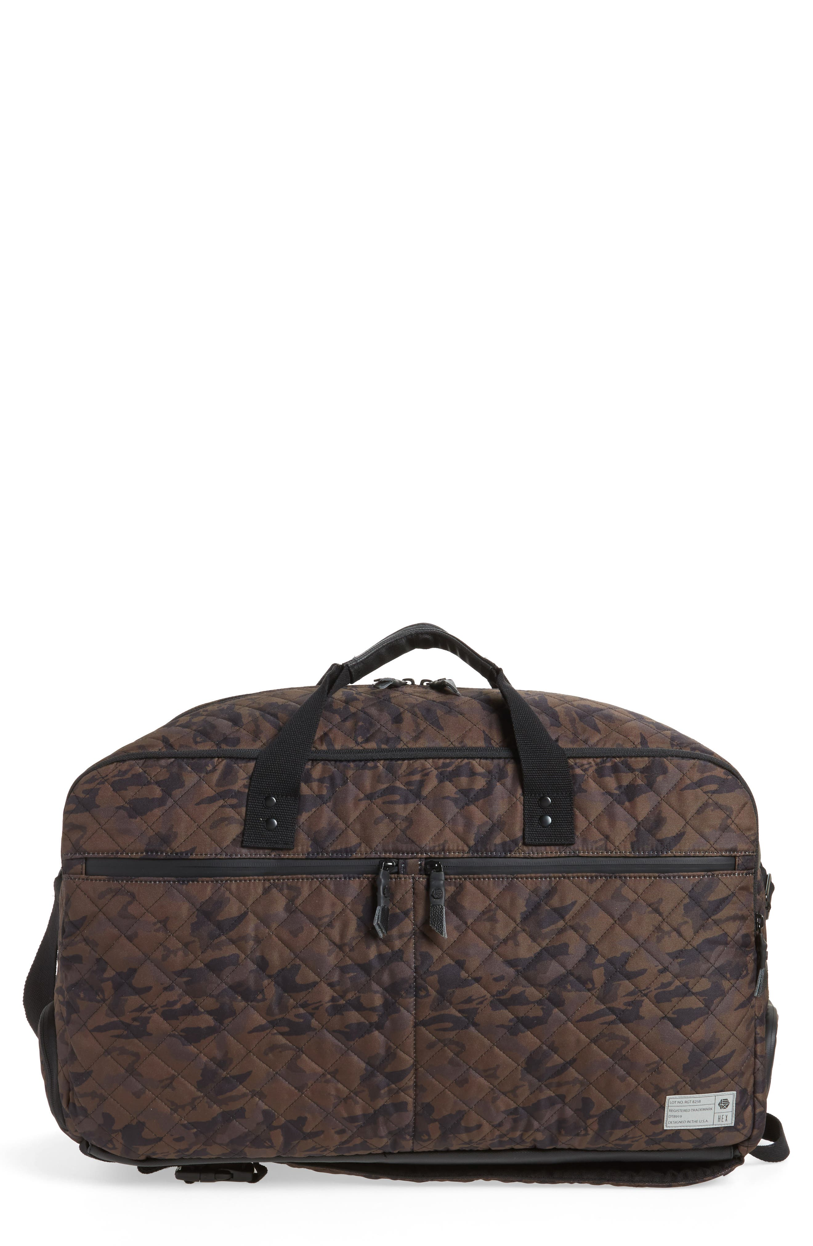 Convertible Duffel Bag,                             Main thumbnail 1, color,                             Quilted Camo