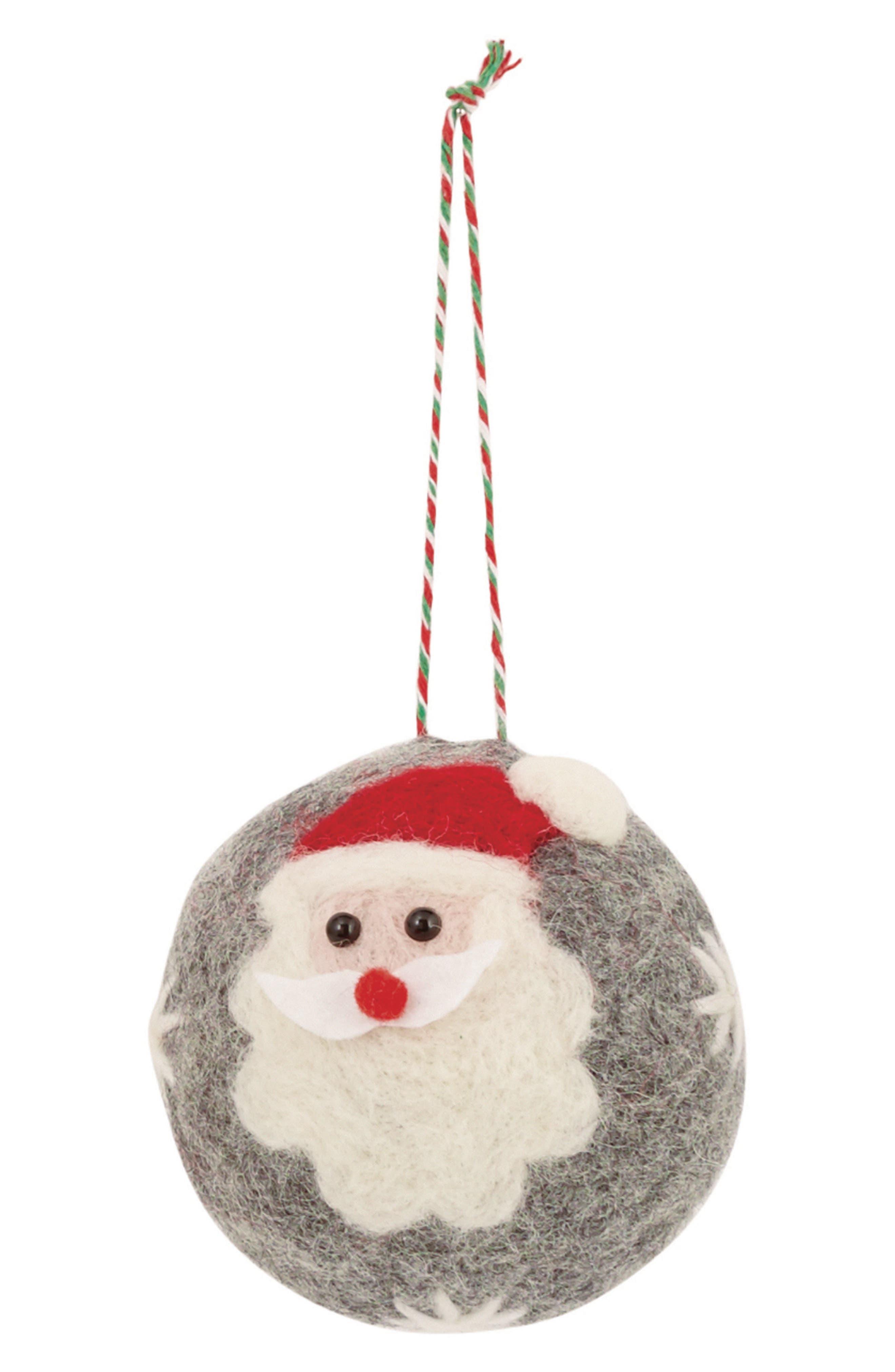 Alternate Image 1 Selected - Mud Pie Boiled Wool Santa Ornament