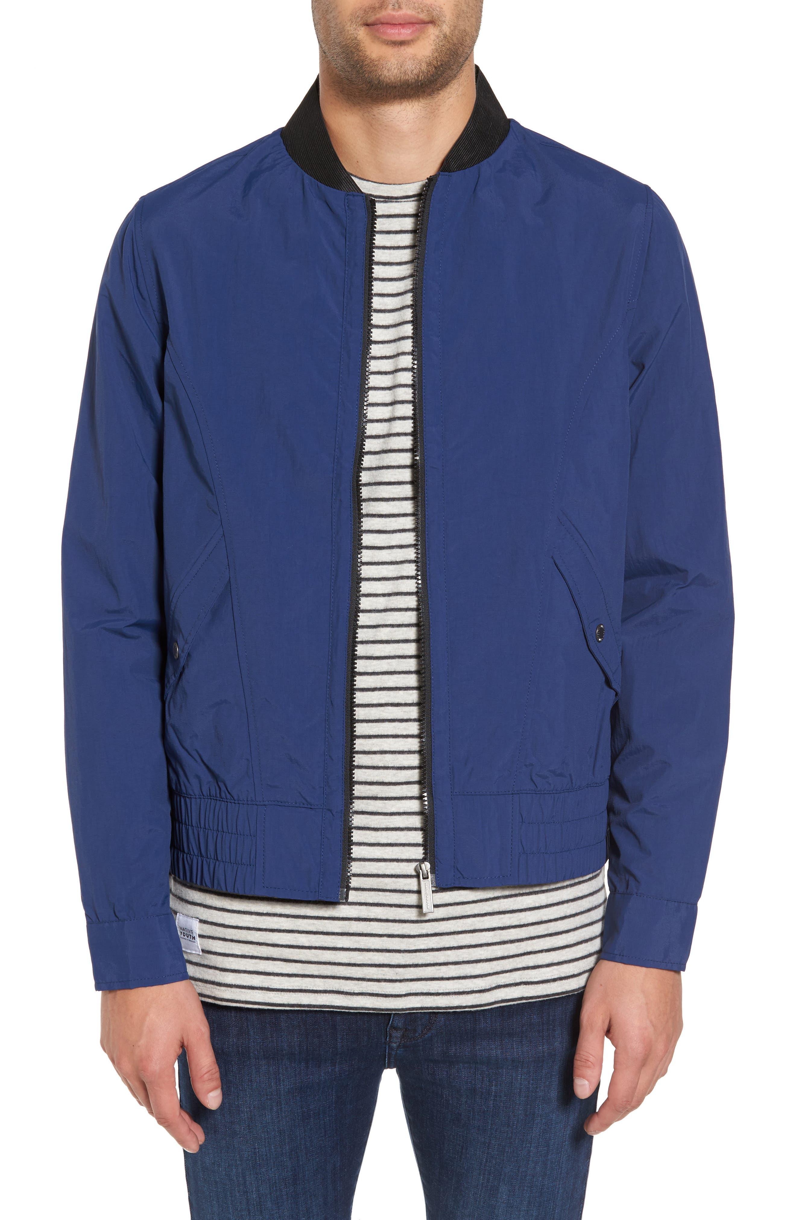 Venture Bomber Jacket,                         Main,                         color, Blue