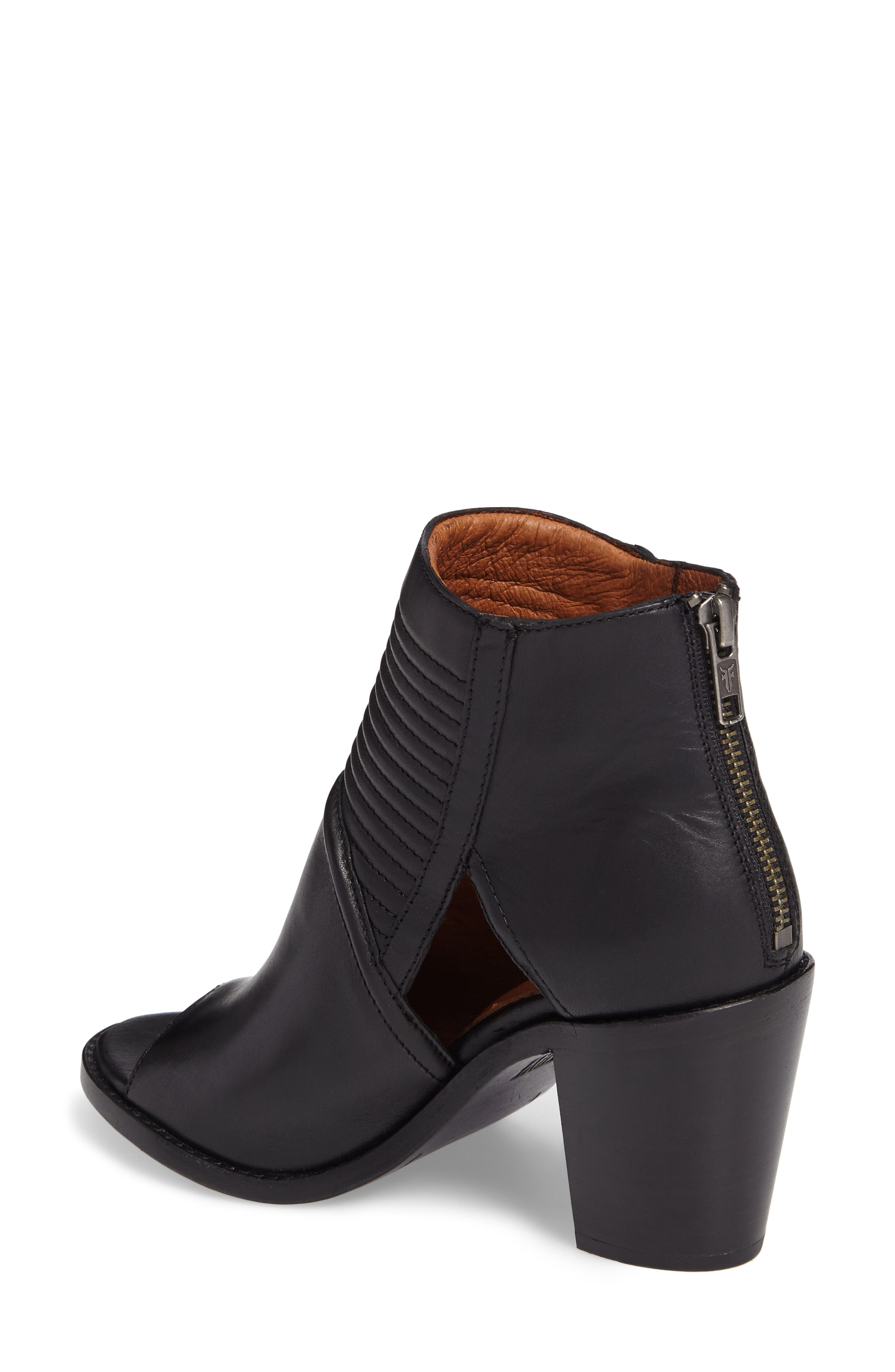Alternate Image 2  - Frye Bailey Quilted Peep Toe Bootie (Women)