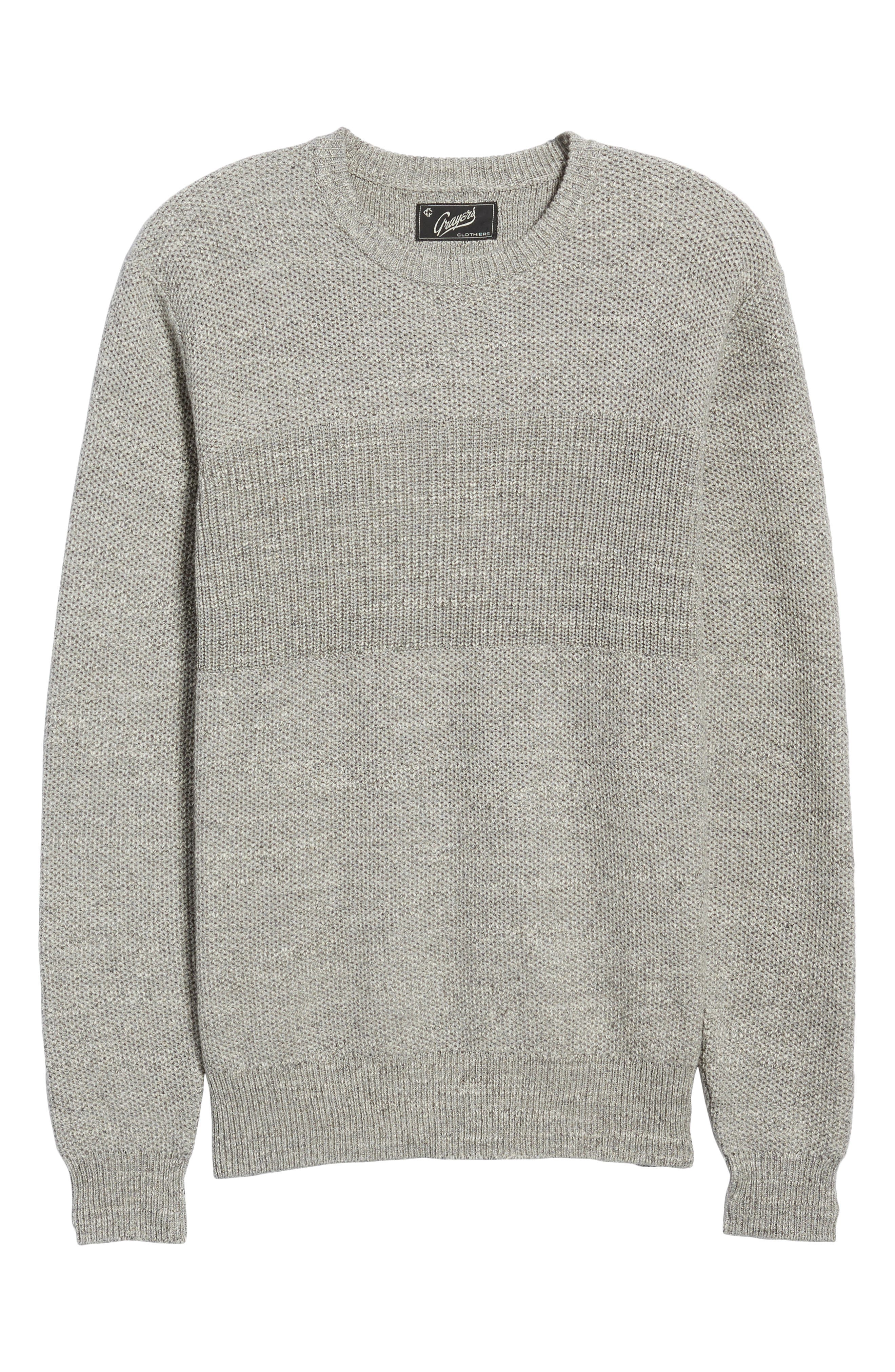 Ardsley Textured Sweater,                             Alternate thumbnail 6, color,                             Grey Heather