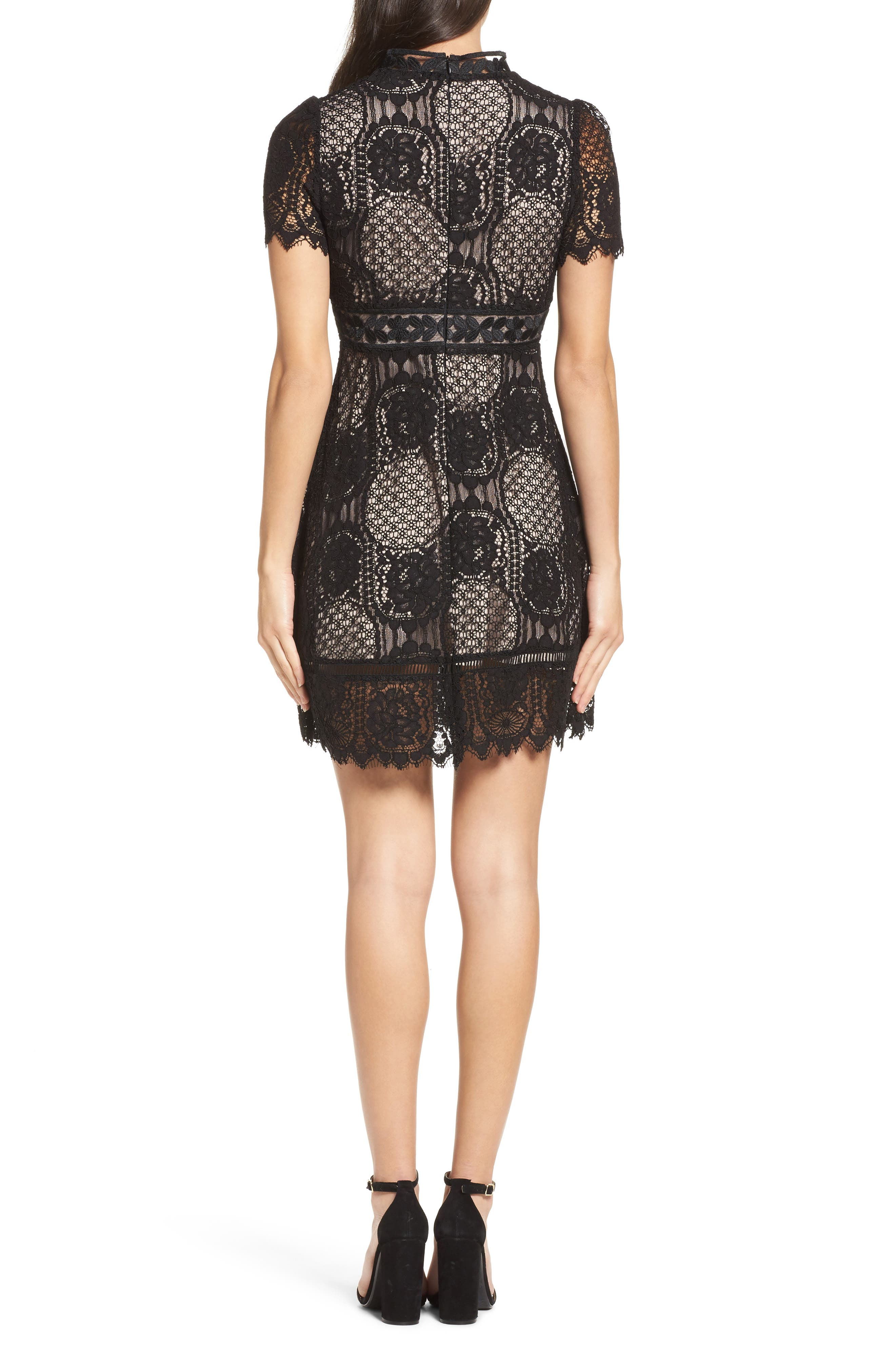 Alternate Image 2  - BB Dakota Lace Fit & Flare Dress