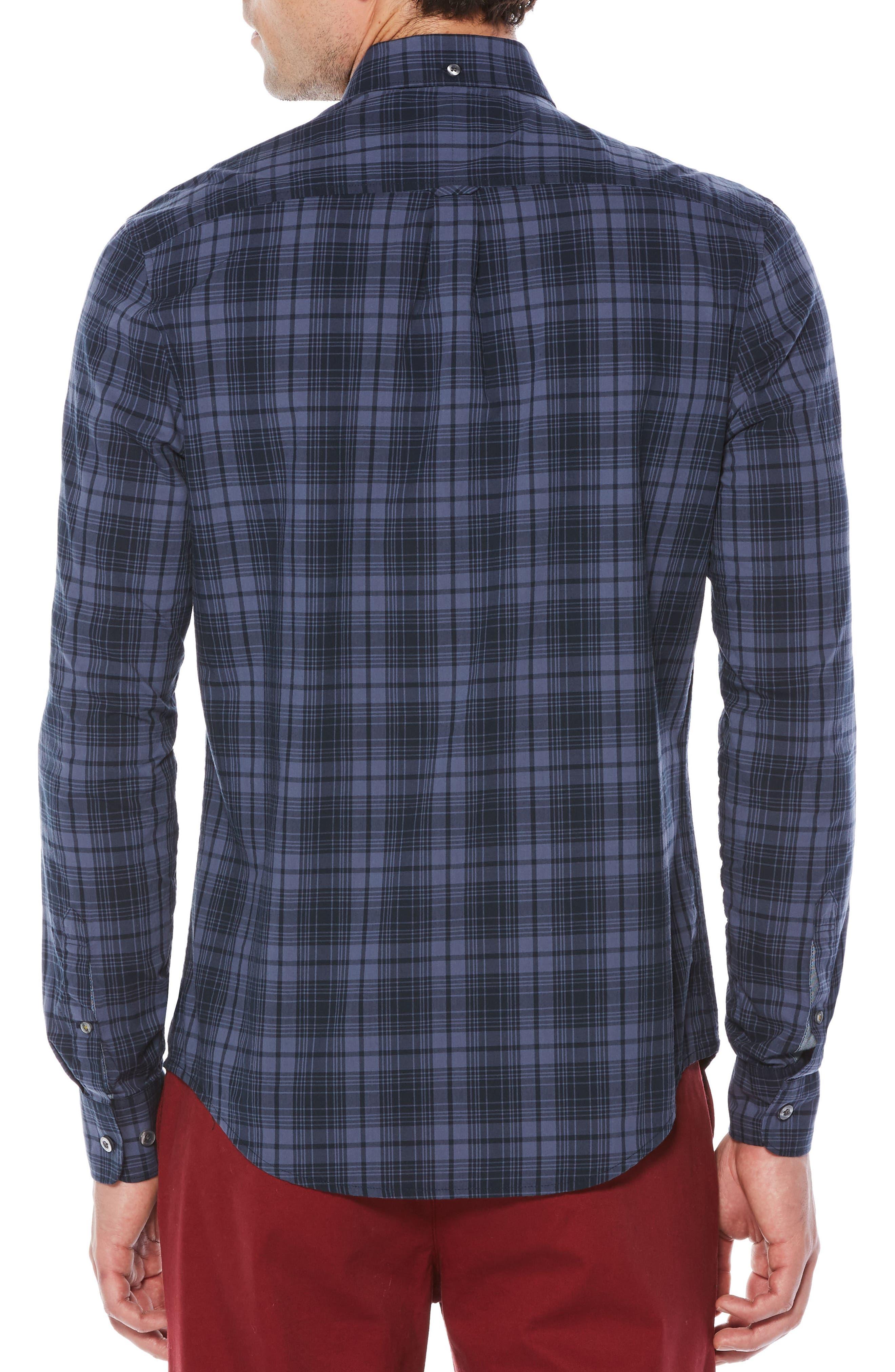Heritage Slim Fit Plaid Shirt,                             Alternate thumbnail 2, color,                             Vintage Indigo