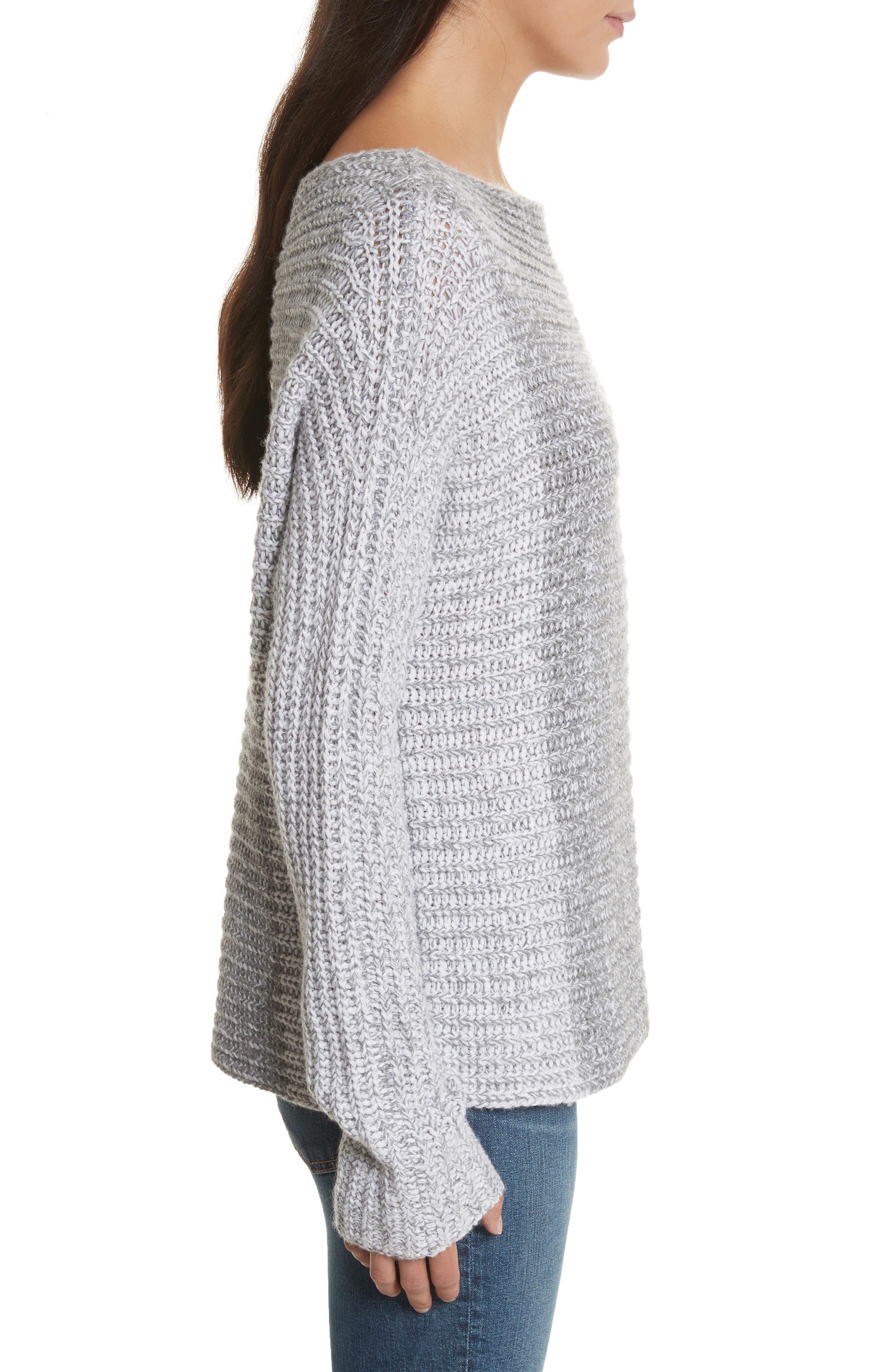 Colorblock Sweater,                             Alternate thumbnail 3, color,                             Grey