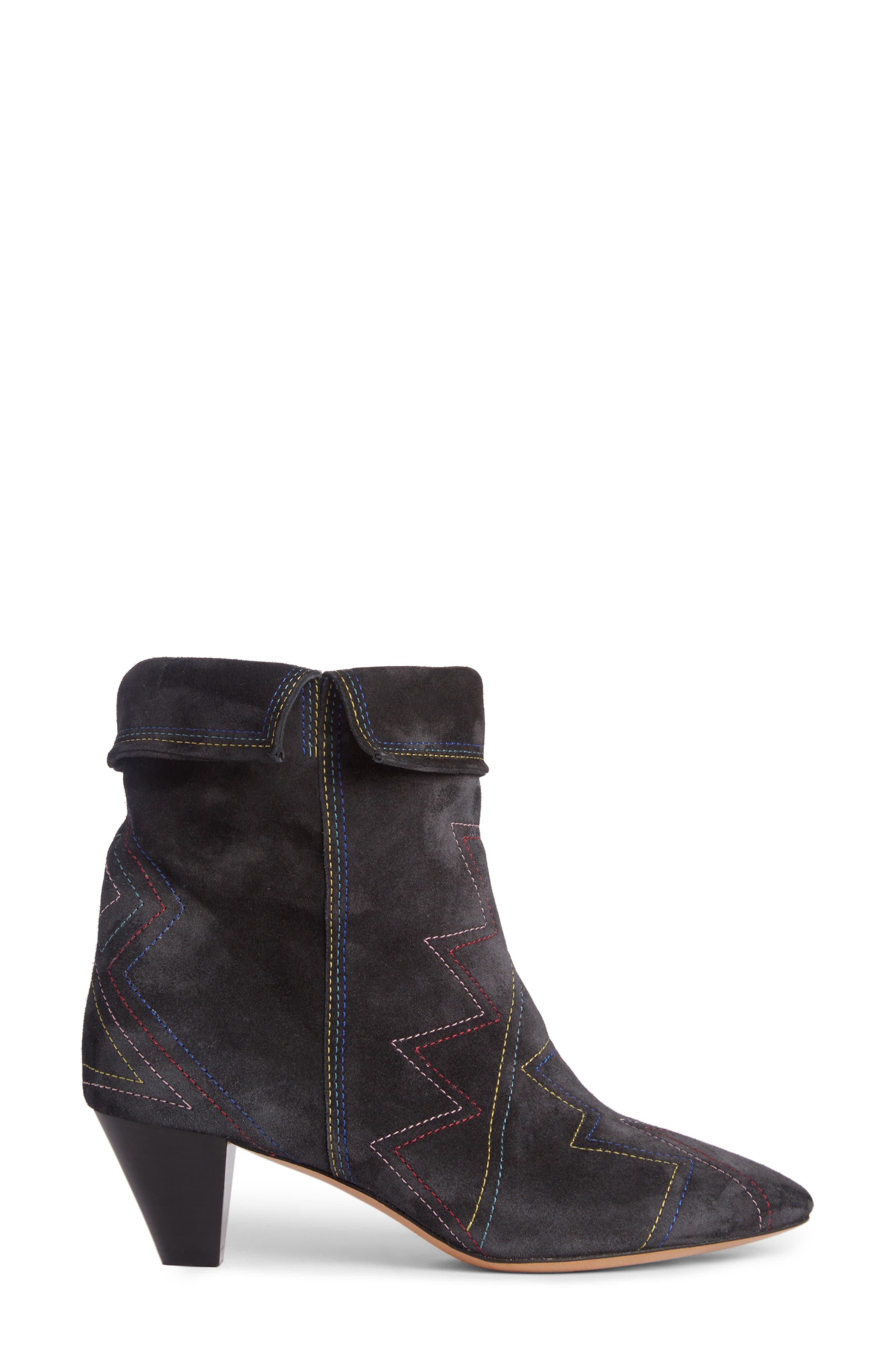 Dyna Topstitched Boot,                             Alternate thumbnail 4, color,                             Faded Black