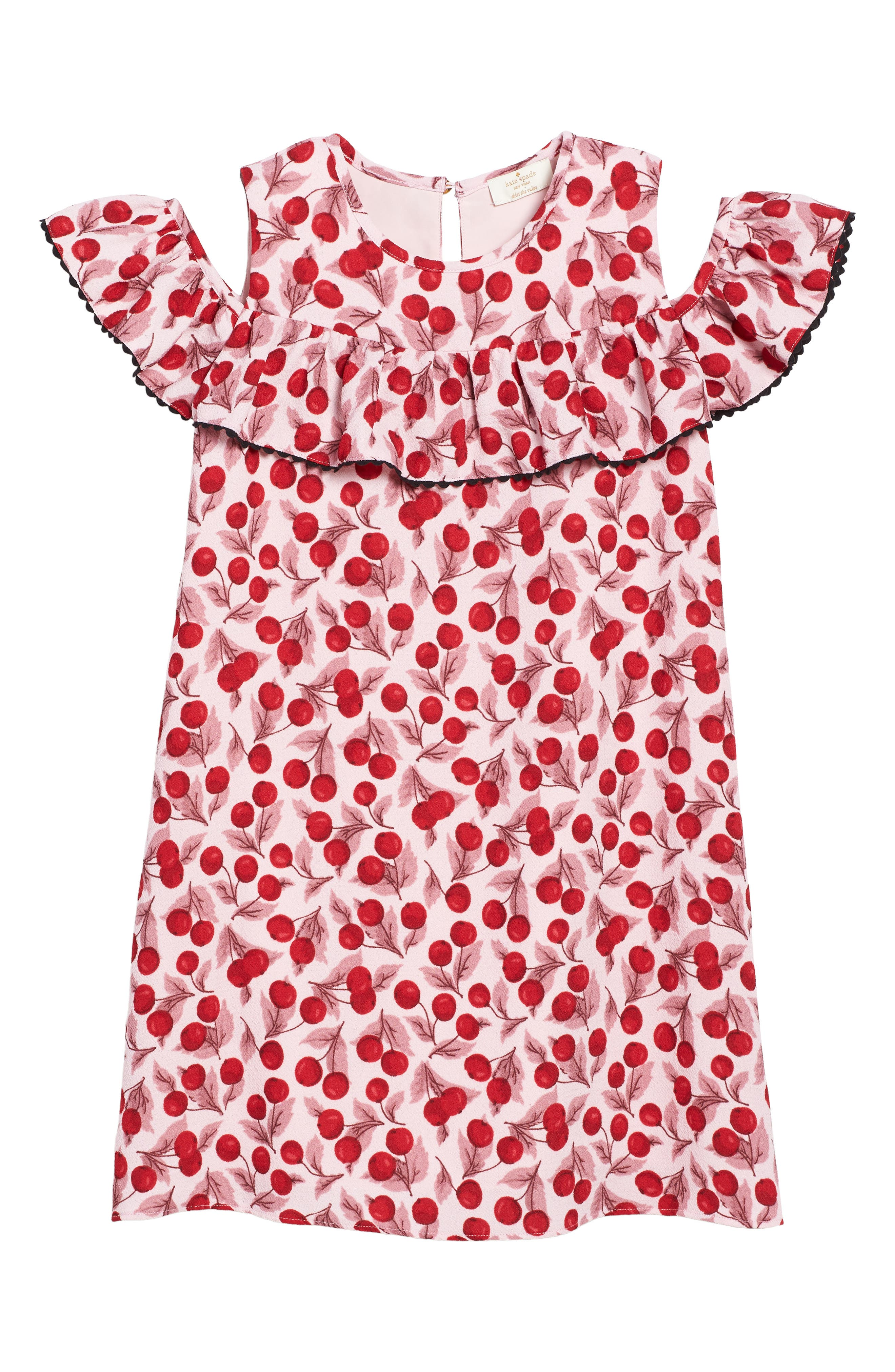 Main Image - kate spade new york ruffle sleeve cutout dress (Big Girls)