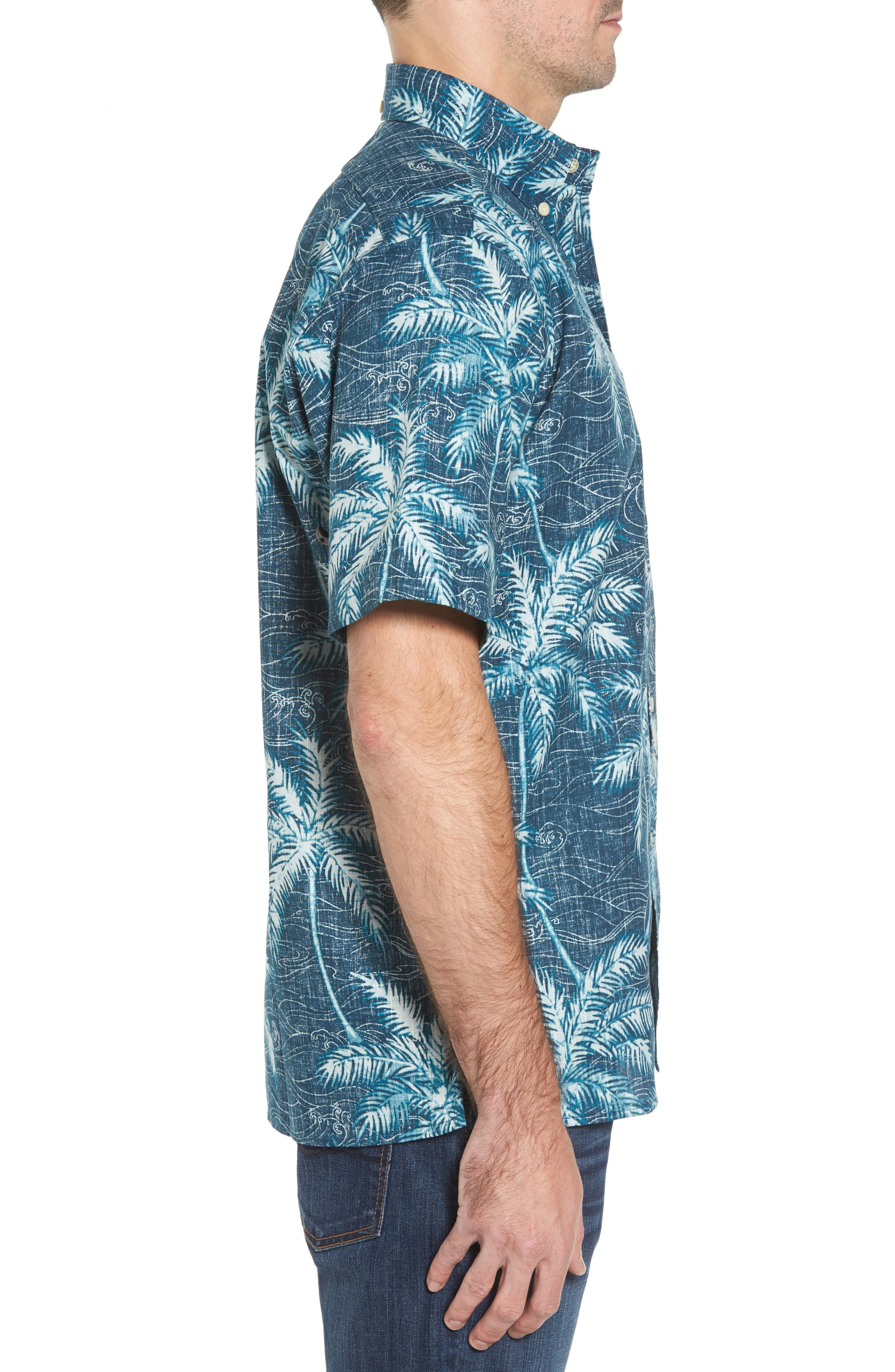Alternate Image 3  - Reyn Spooner Palm Seas Classic Fit Sport Shirt