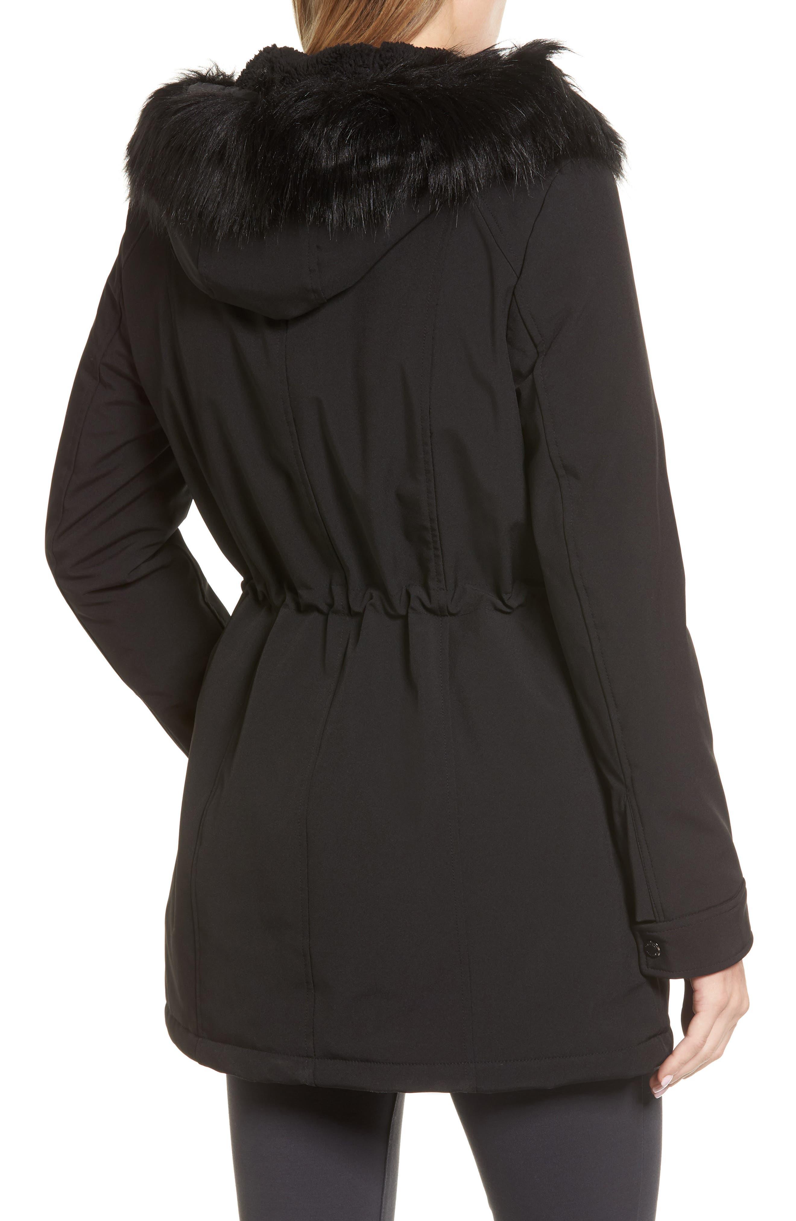 Soft Shell Anorak Jacket,                             Alternate thumbnail 2, color,                             Black