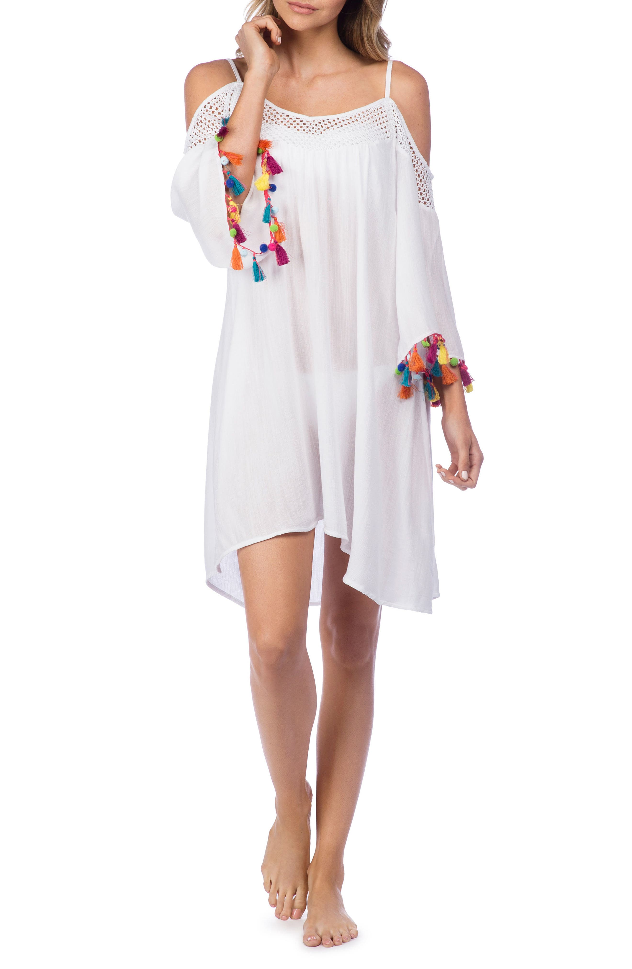 Nanette Lepore Cha Cha Cha Off the Shoulder Cover-Up